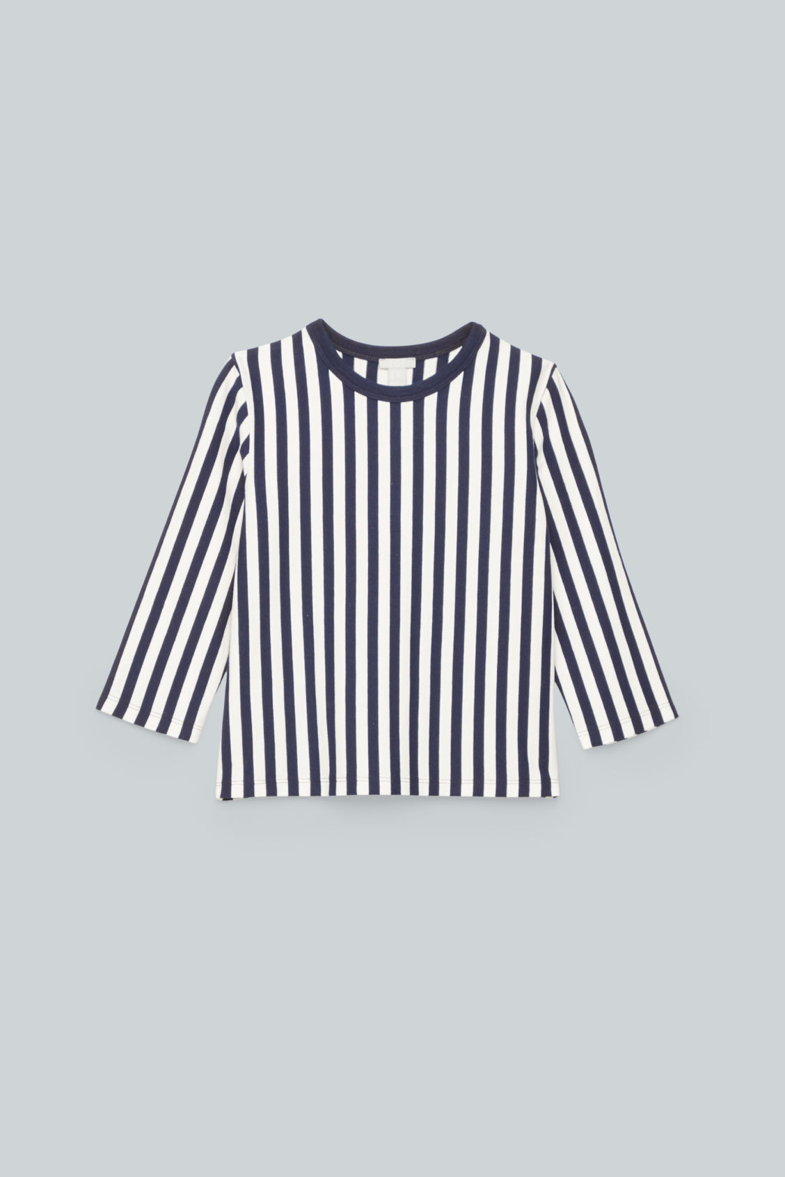 Front image of Cos vertical-striped top	 in blue