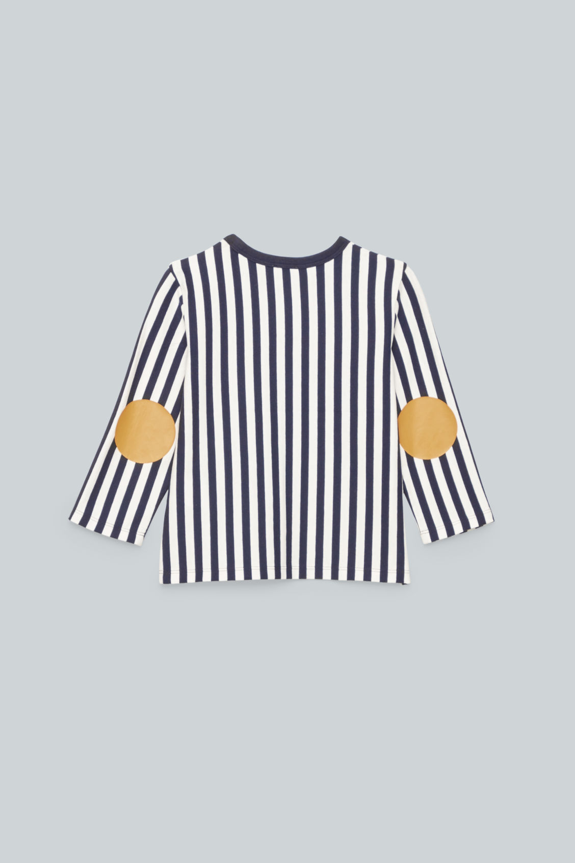Side image of Cos vertical-striped top	 in blue