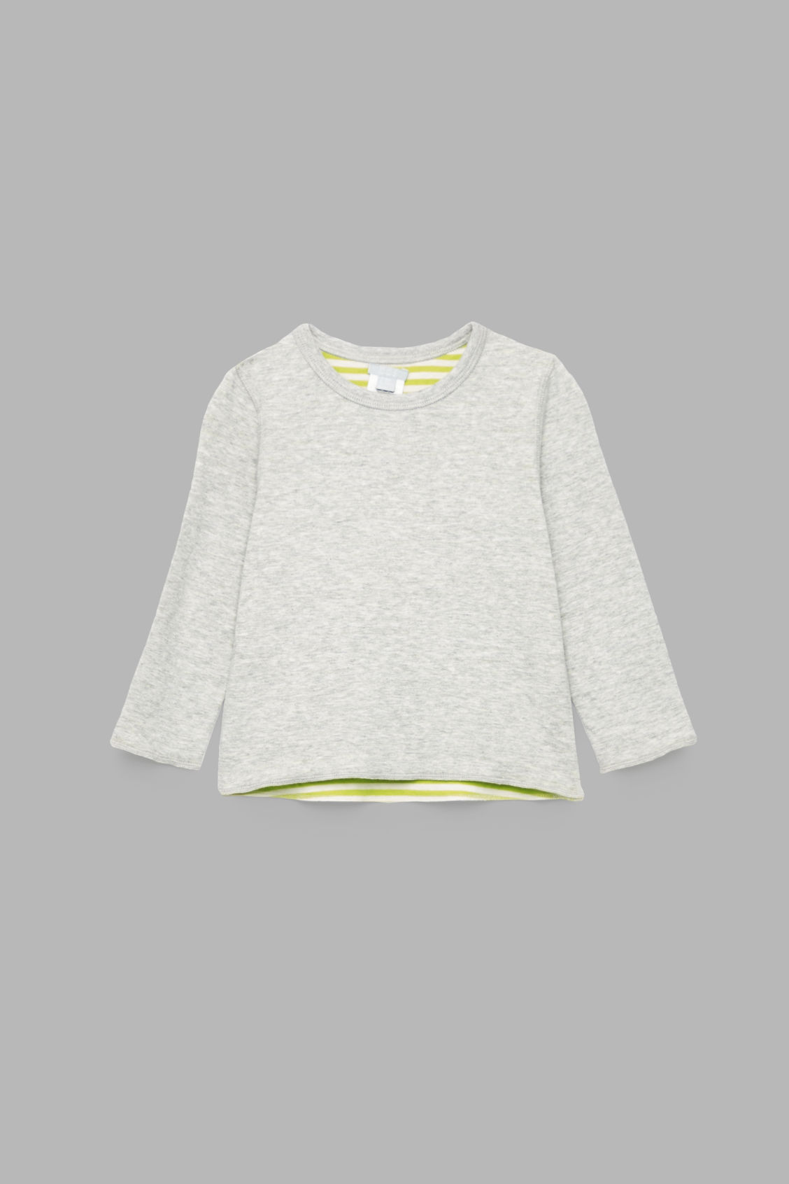 Front image of Cos reversible organic-cotton top in grey