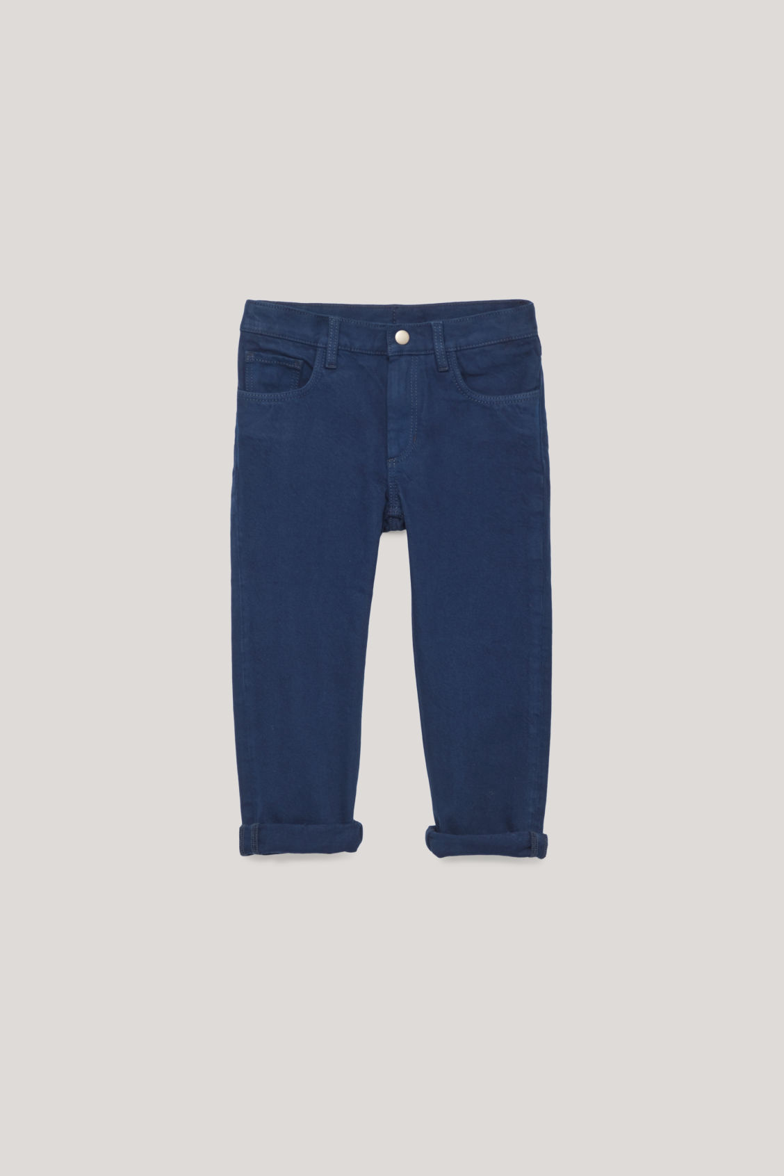 Front image of Cos straight-leg denim jeans  in blue