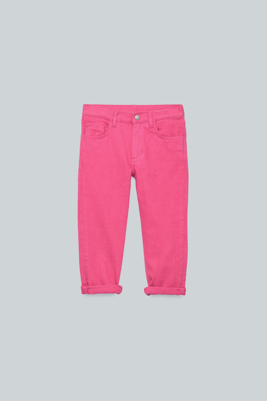 Front image of Cos straight-leg denim jeans  in pink