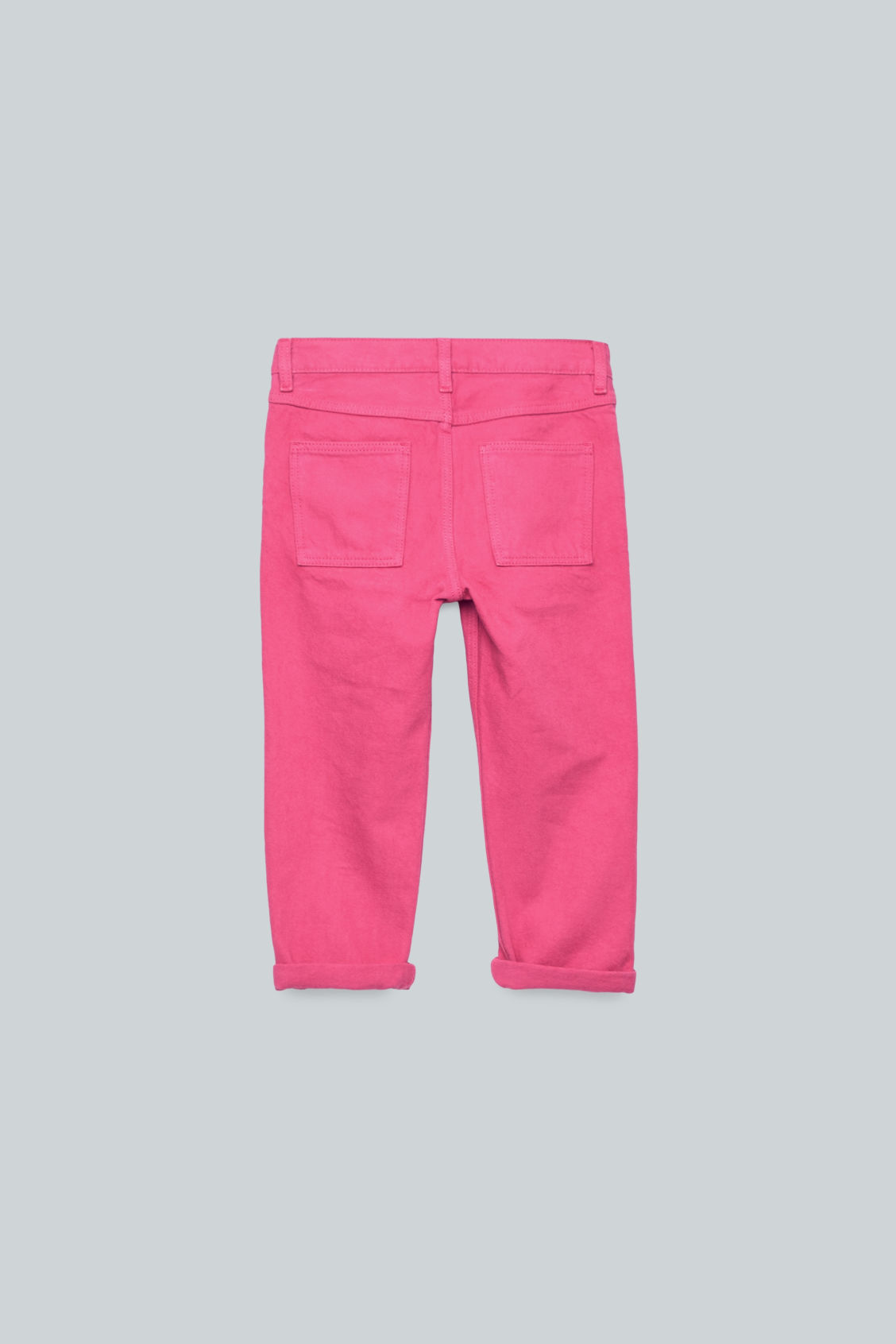 Side image of Cos straight-leg denim jeans  in pink