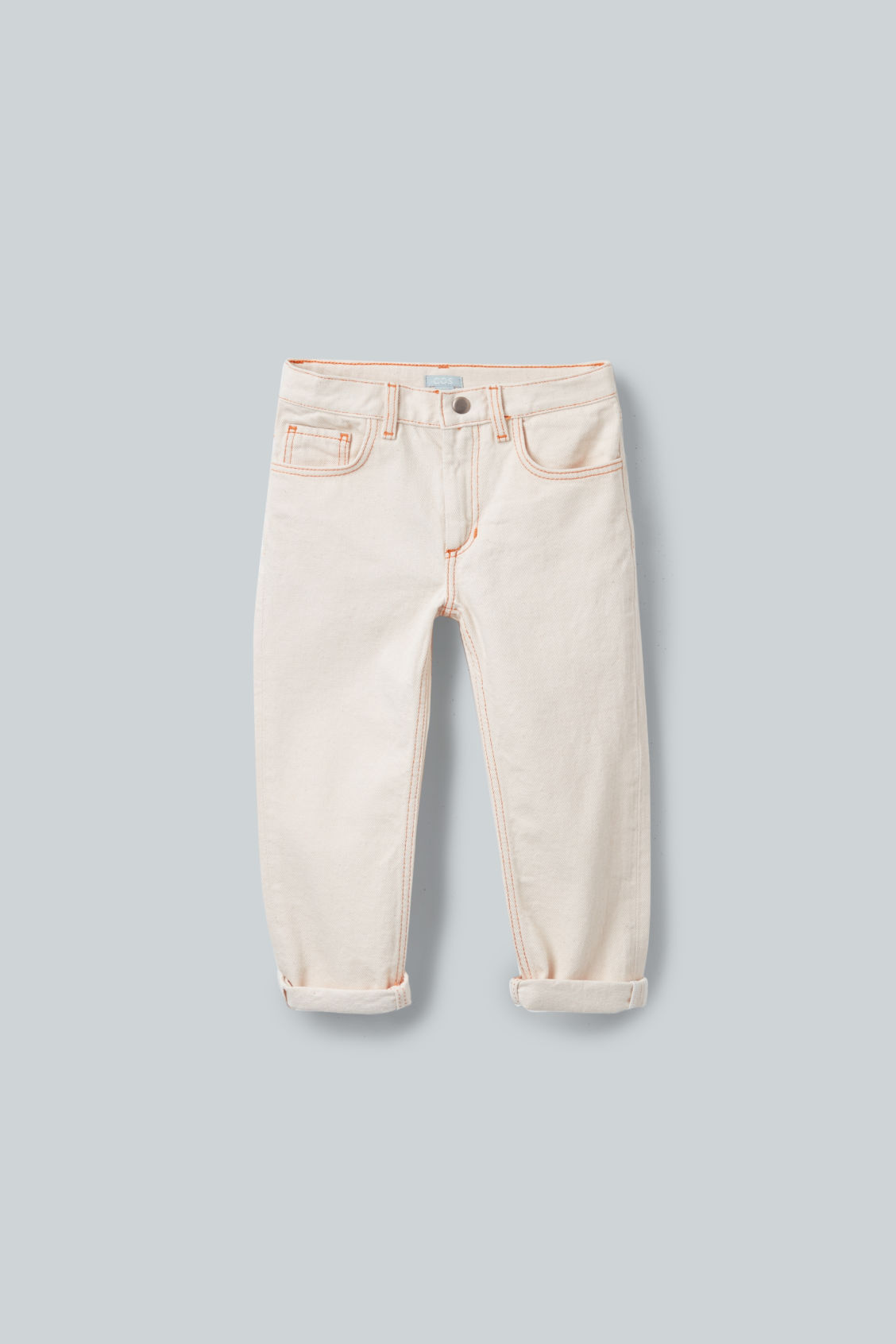 Front image of Cos straight-leg denim jeans  in beige