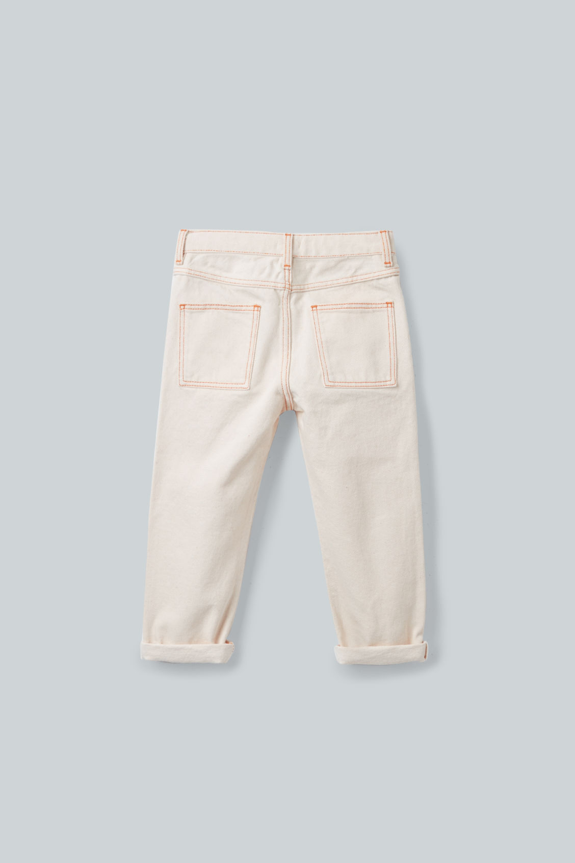 Side image of Cos straight-leg denim jeans  in beige