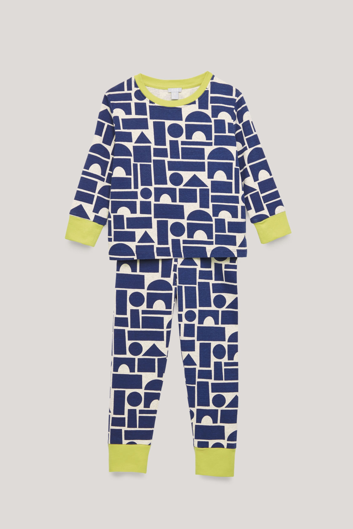 Front image of Cos organic-cotton pyjama set in blue