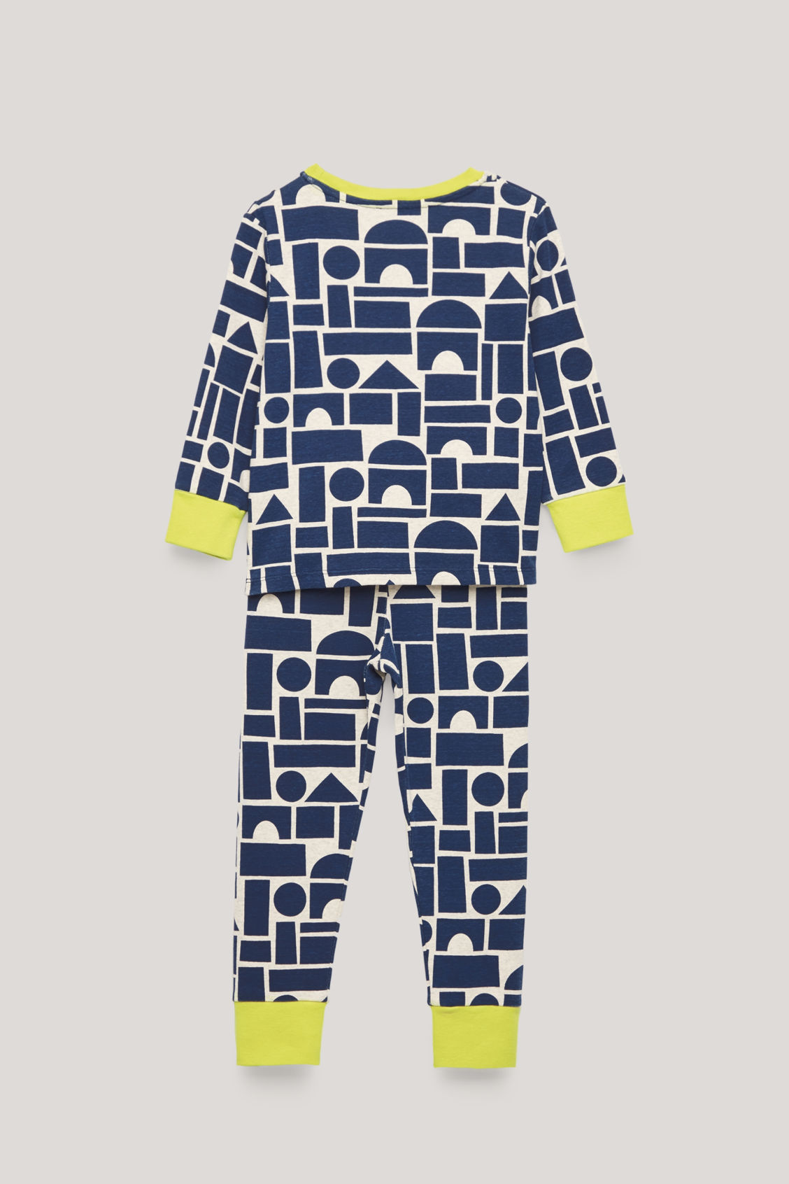 Side image of Cos organic-cotton pyjama set in blue