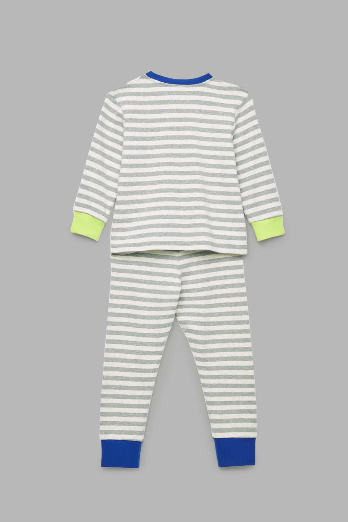 Side image of Cos organic-cotton pyjama set in grey