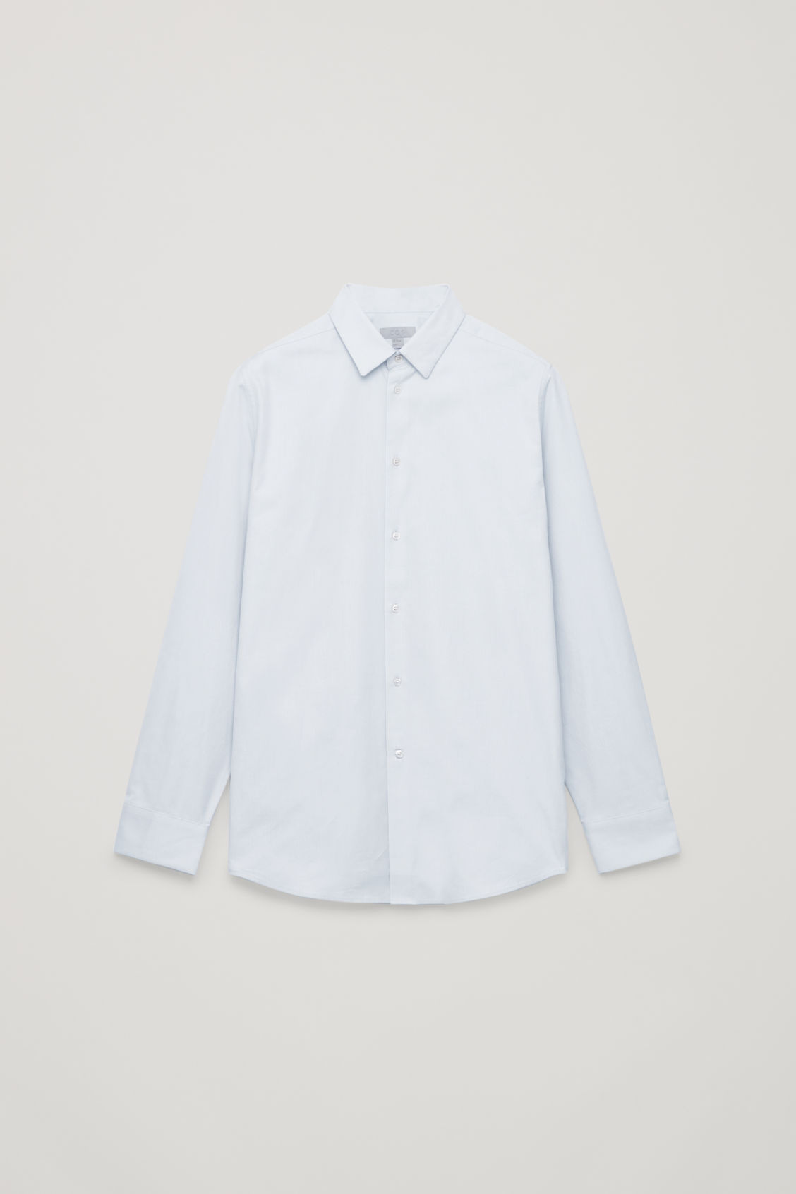 Front image of Cos structured cotton shirt in blue