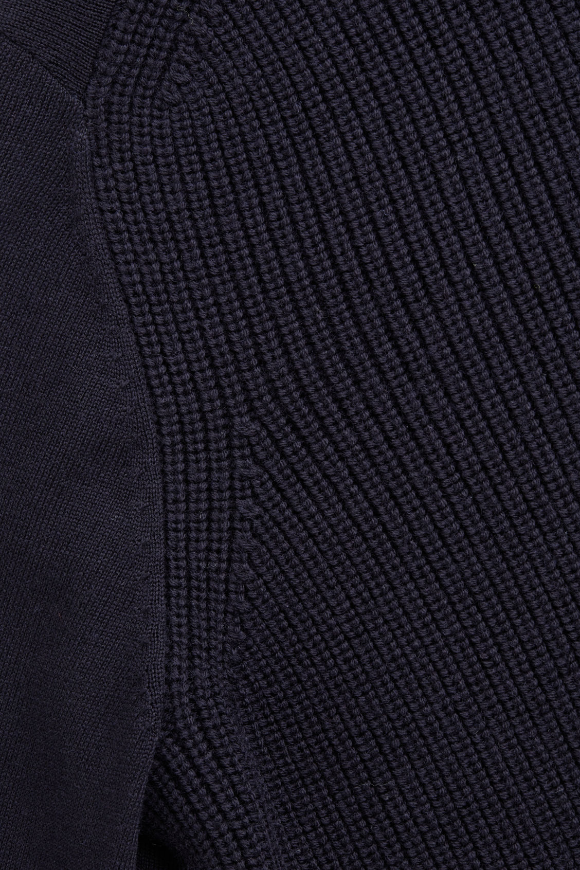 Side image of Cos mix-stitch merino jumper in blue