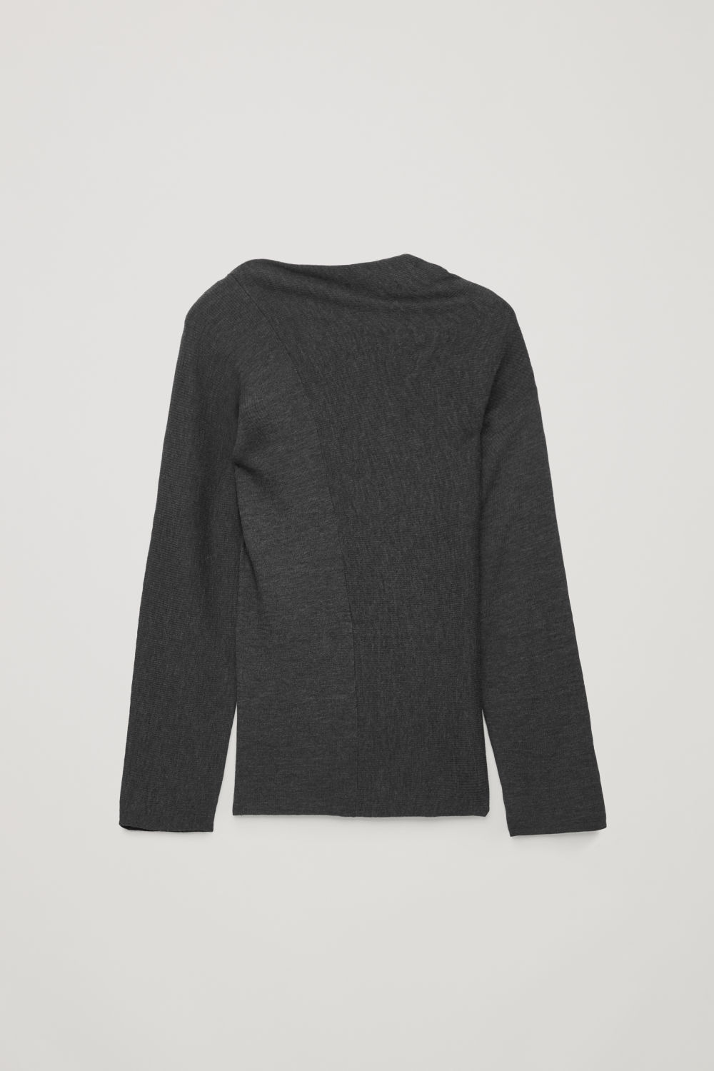 DRAPED-NECK MERINO JUMPER