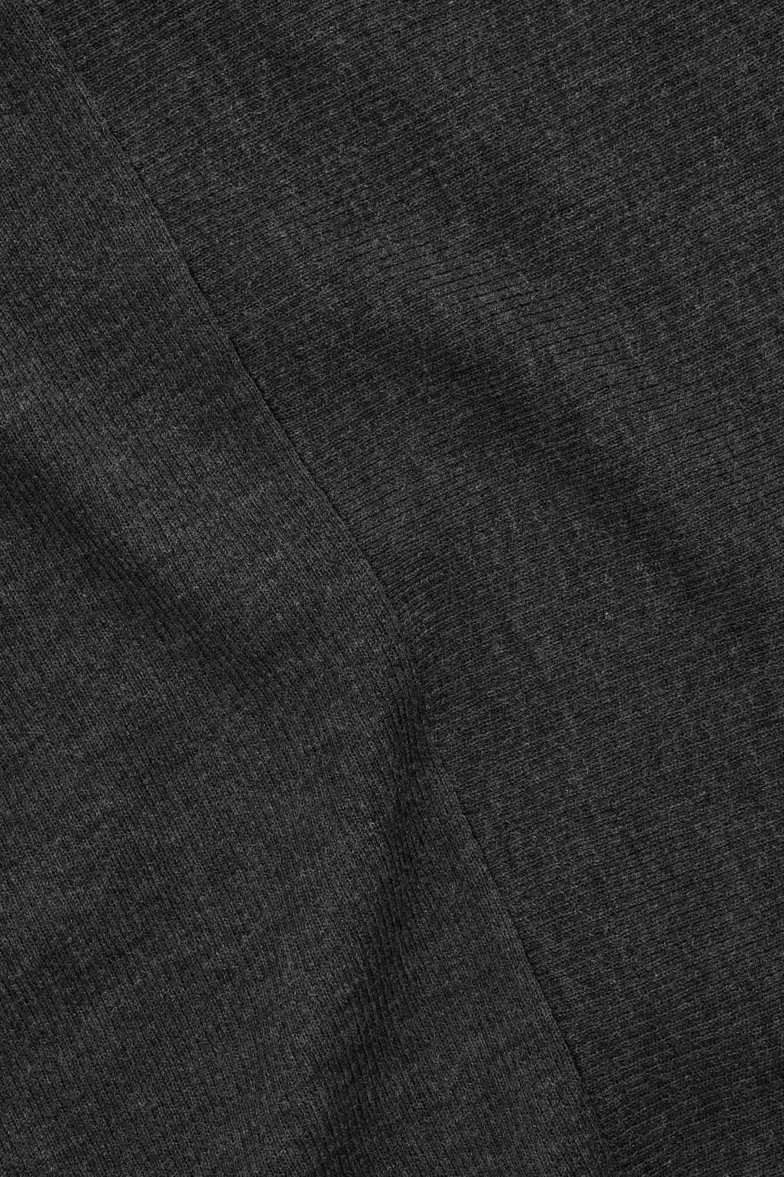 Side image of Cos draped-neck merino jumper in grey