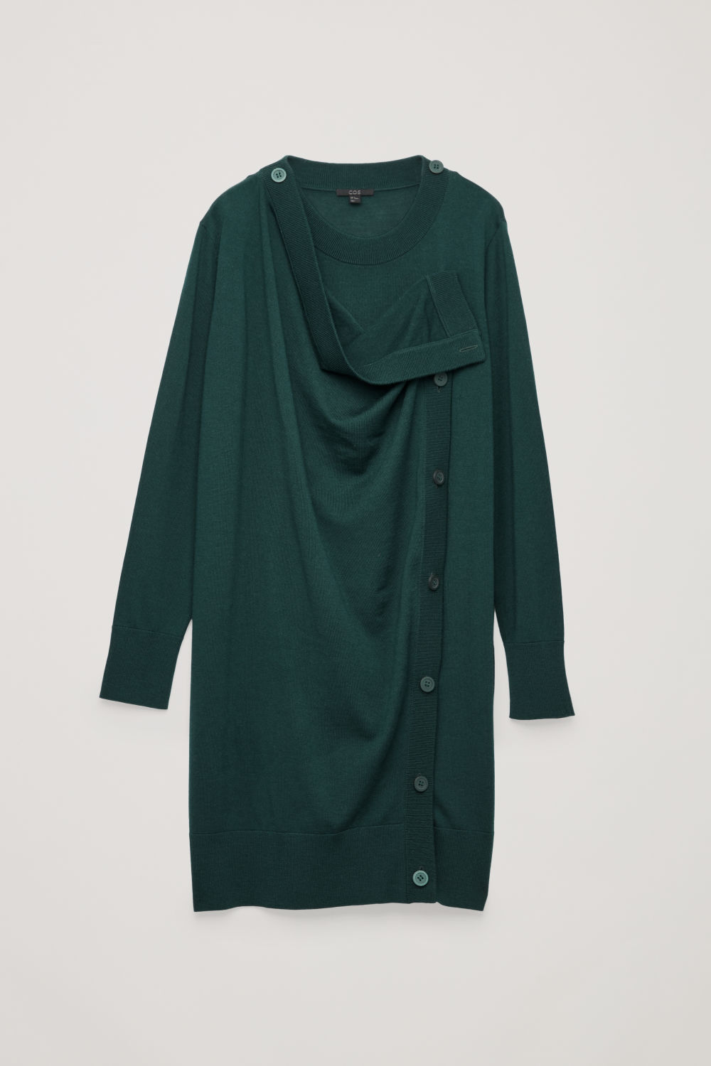 BUTTON-UP MERINO WOOL DRESS