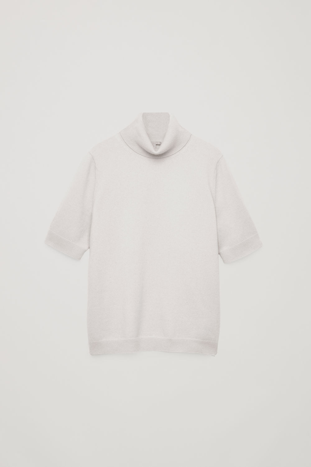 Front image of Cos short-sleeved cashmere jumper in brown