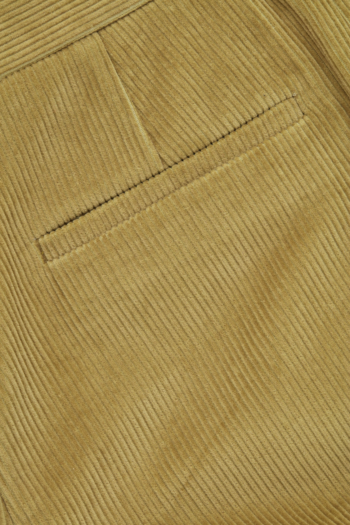 Side image of Cos cropped corduroy trousers in yellow