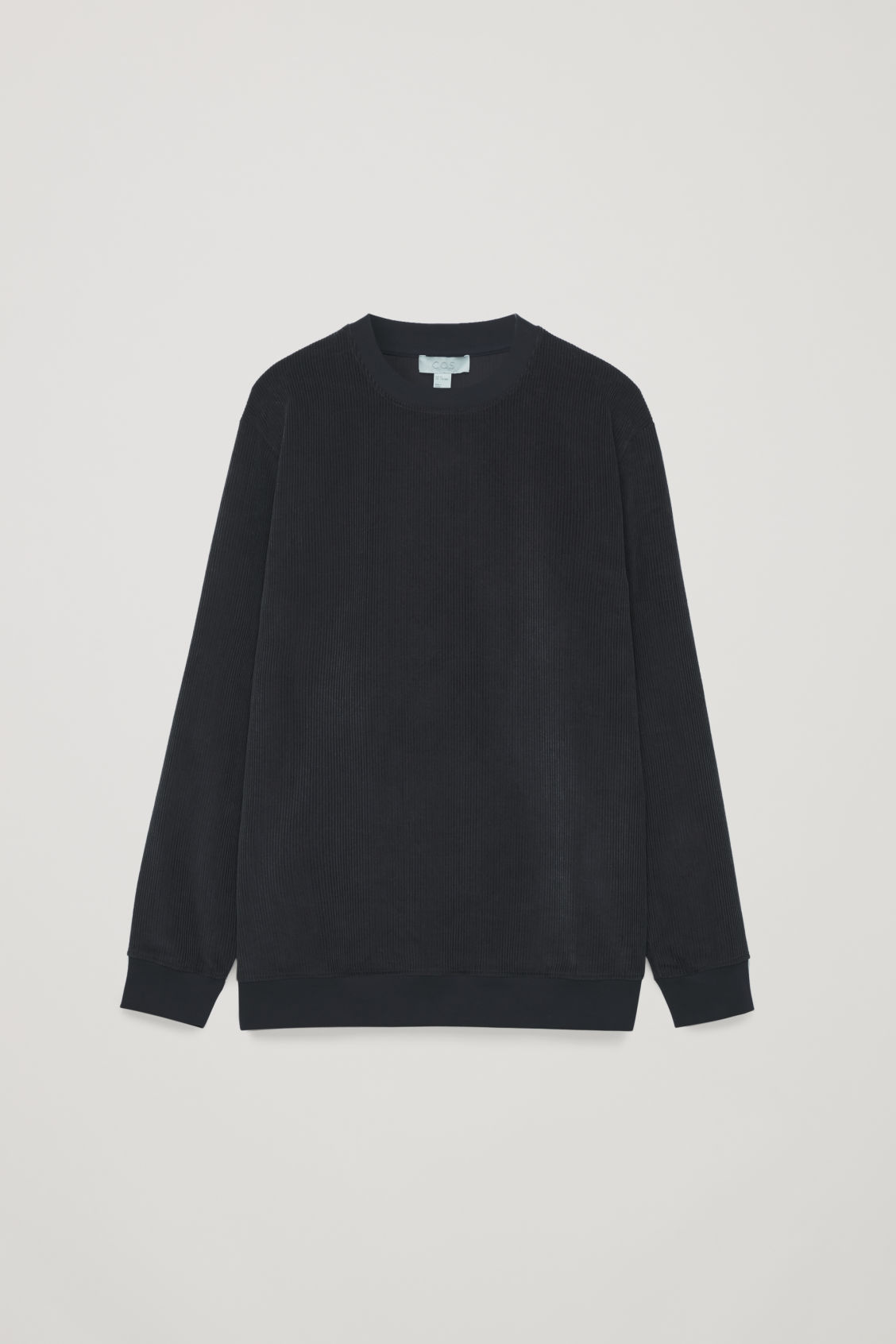 Front image of Cos corduroy sweatshirt in blue