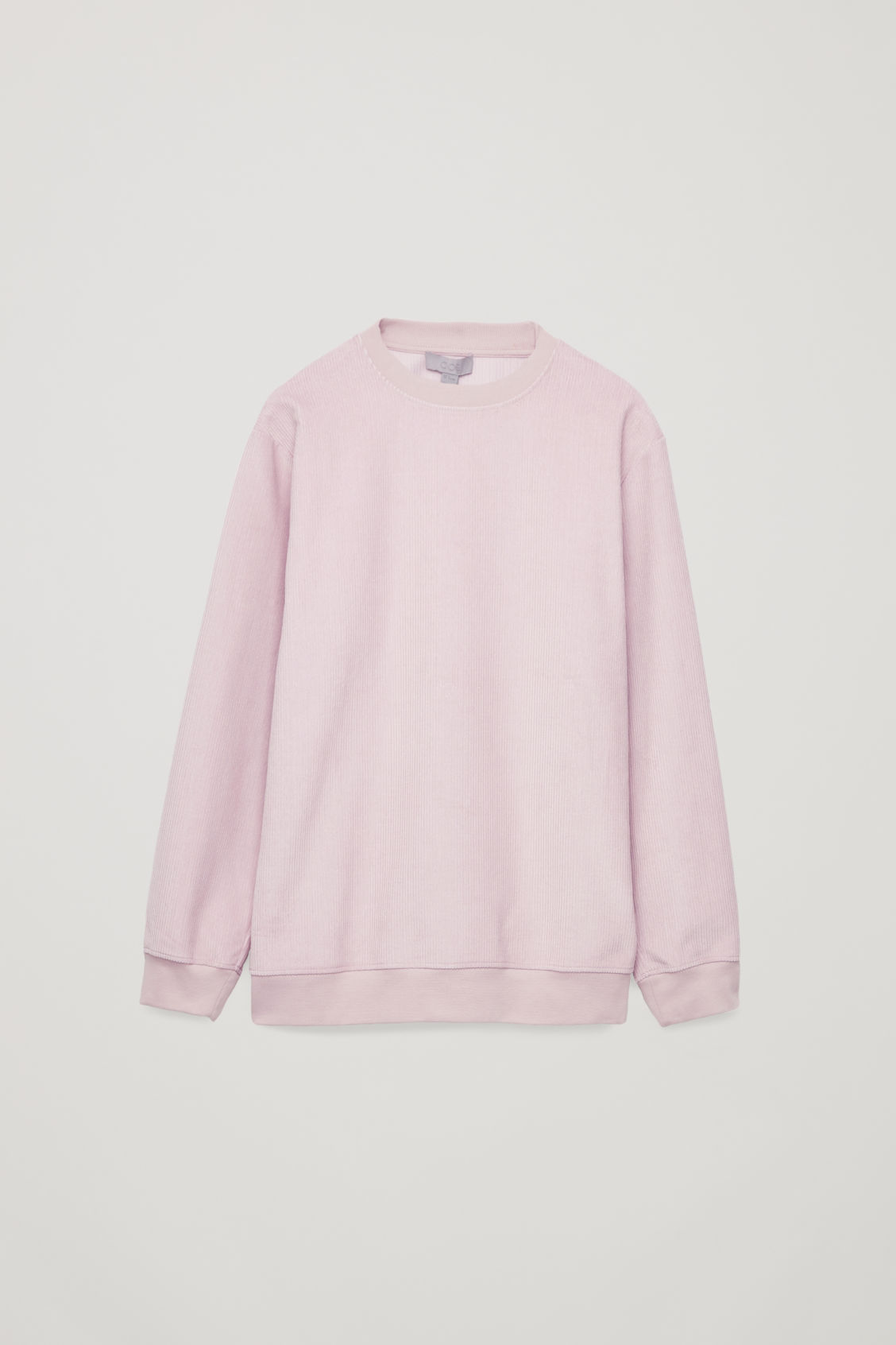 Front image of Cos corduroy sweatshirt in pink