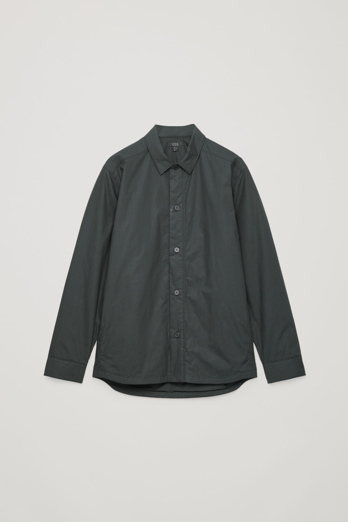 Front image of Cos padded long-sleeved shirt in black