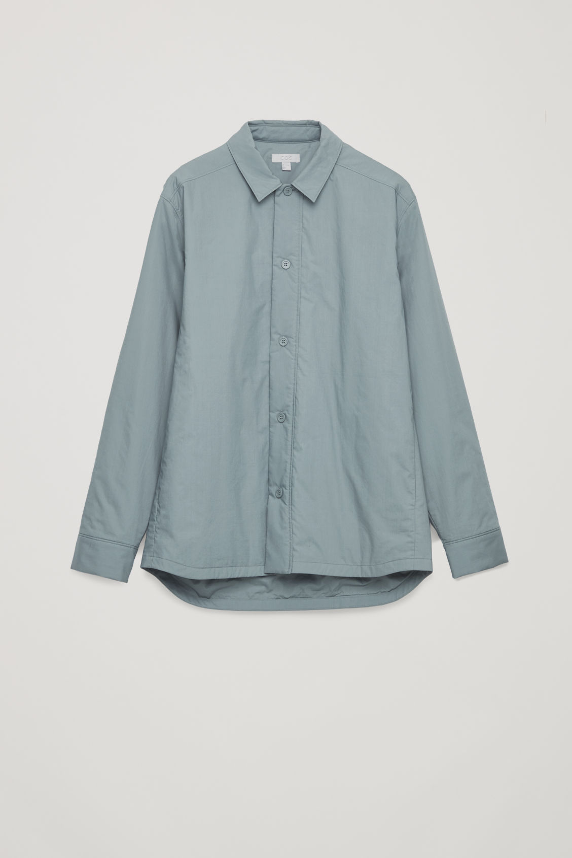 Front image of Cos padded long-sleeved shirt in green