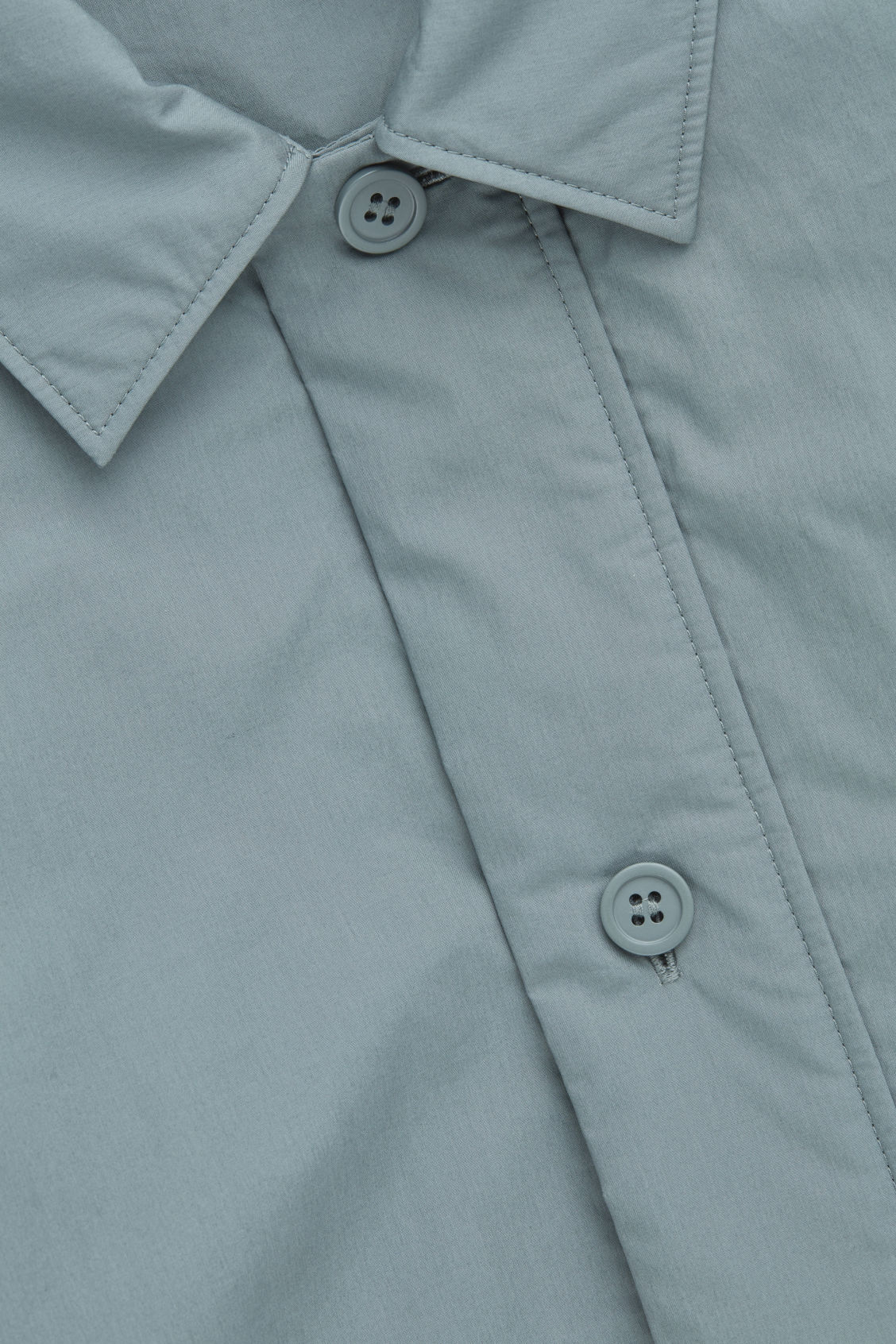 Side image of Cos padded long-sleeved shirt in green