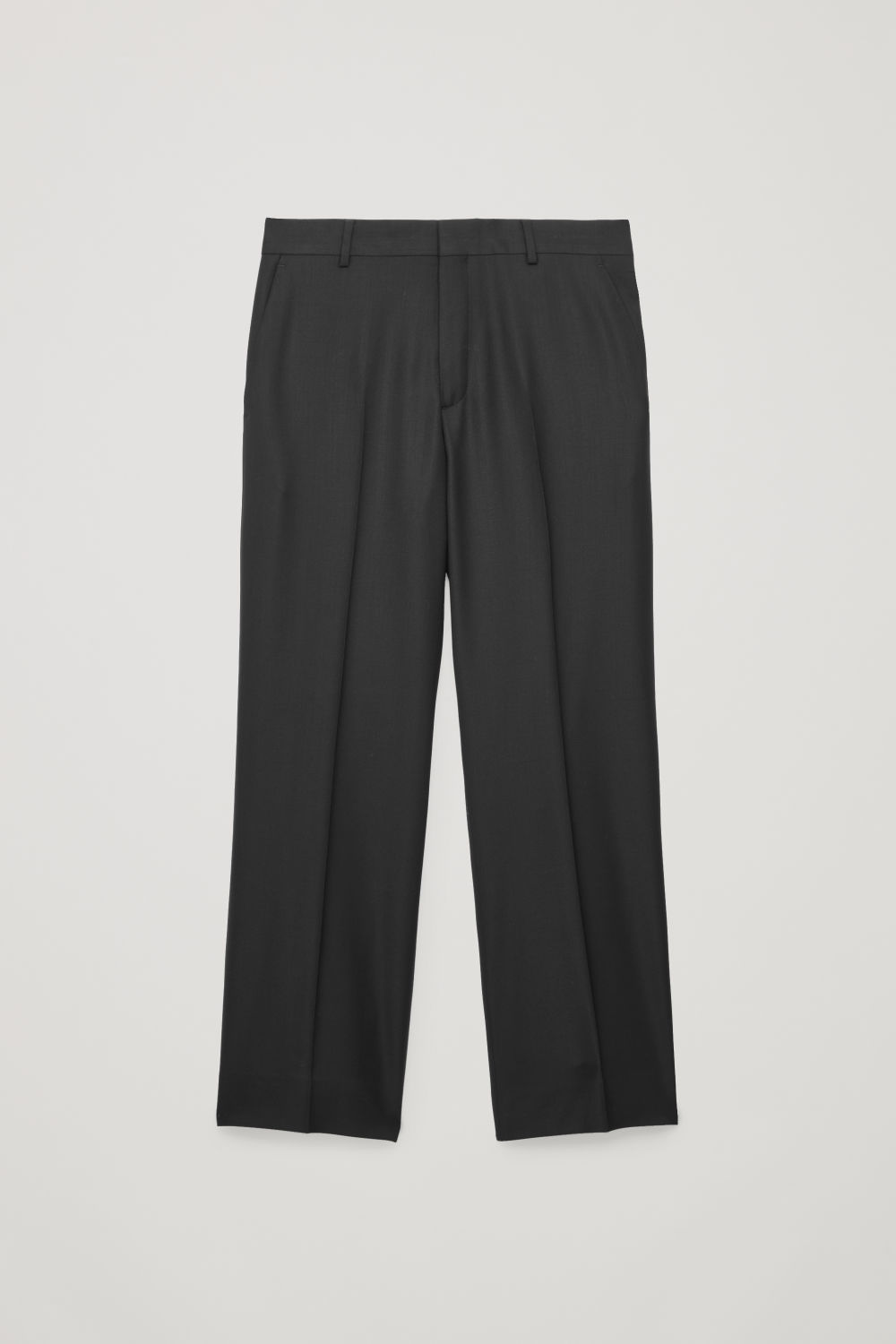 Front image of Cos wide-leg trousers in black