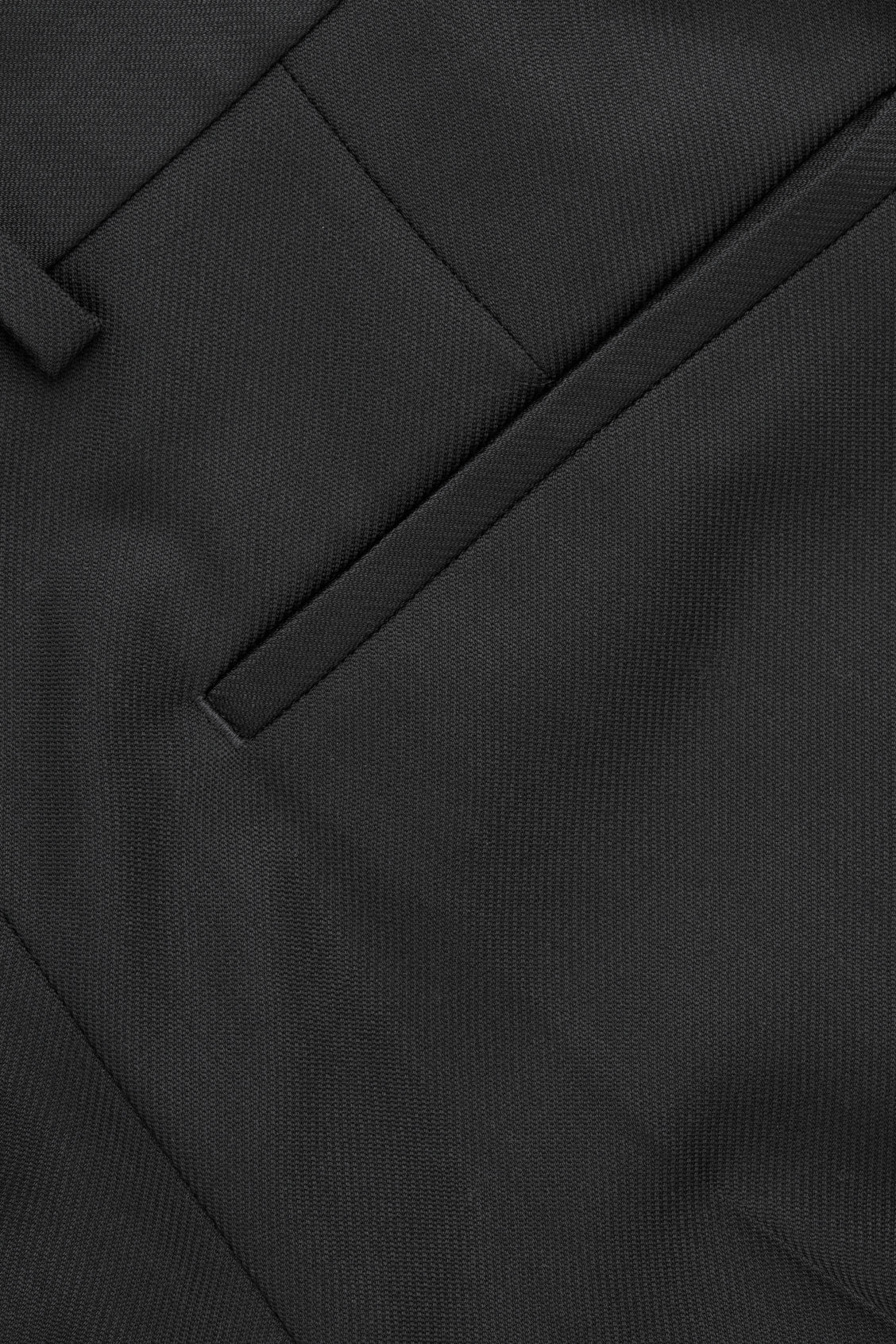 Side image of Cos wide-leg trousers in black