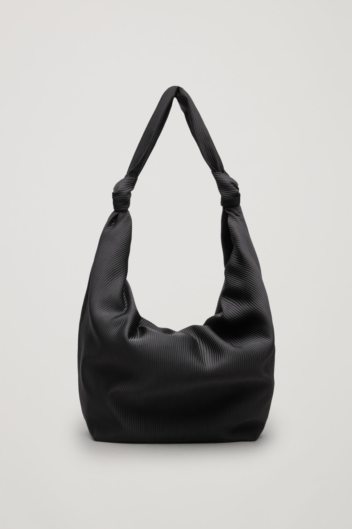 Front image of Cos large corduroy shoulder bag in black 3841a98002c55