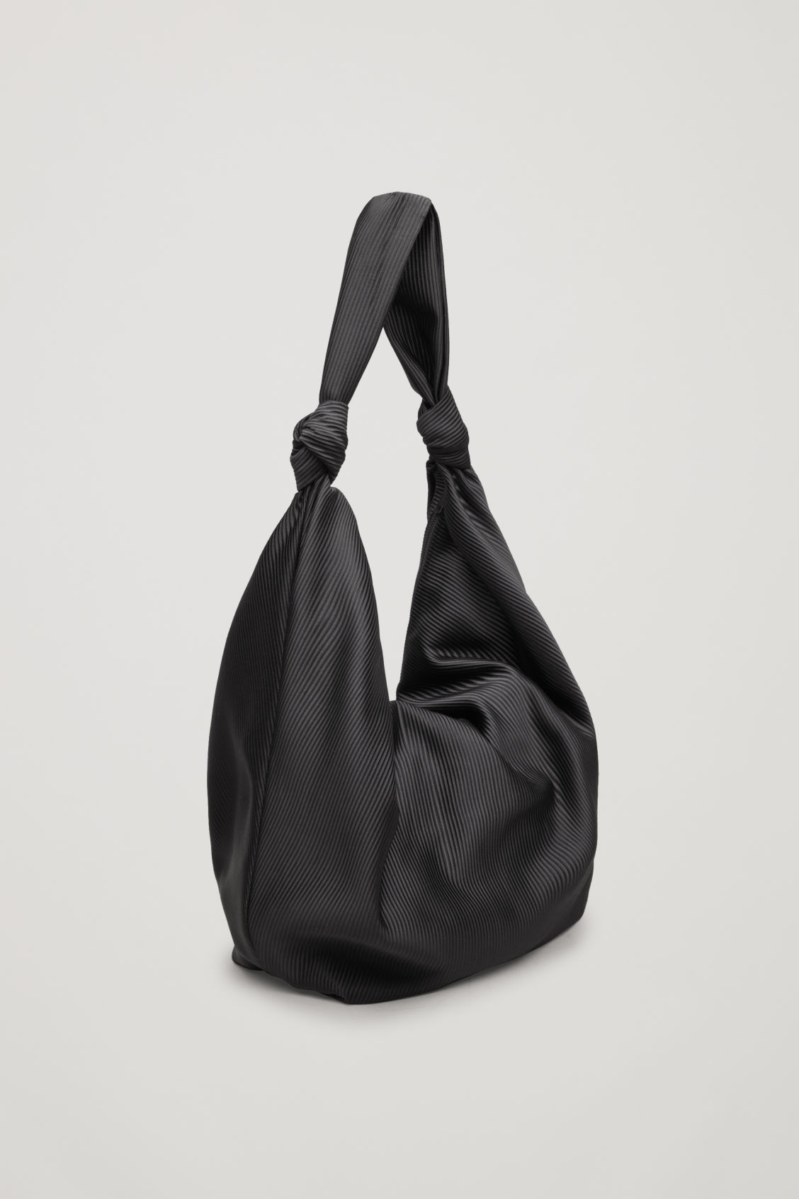 Side image of Cos large corduroy shoulder bag in black d913180aaa117