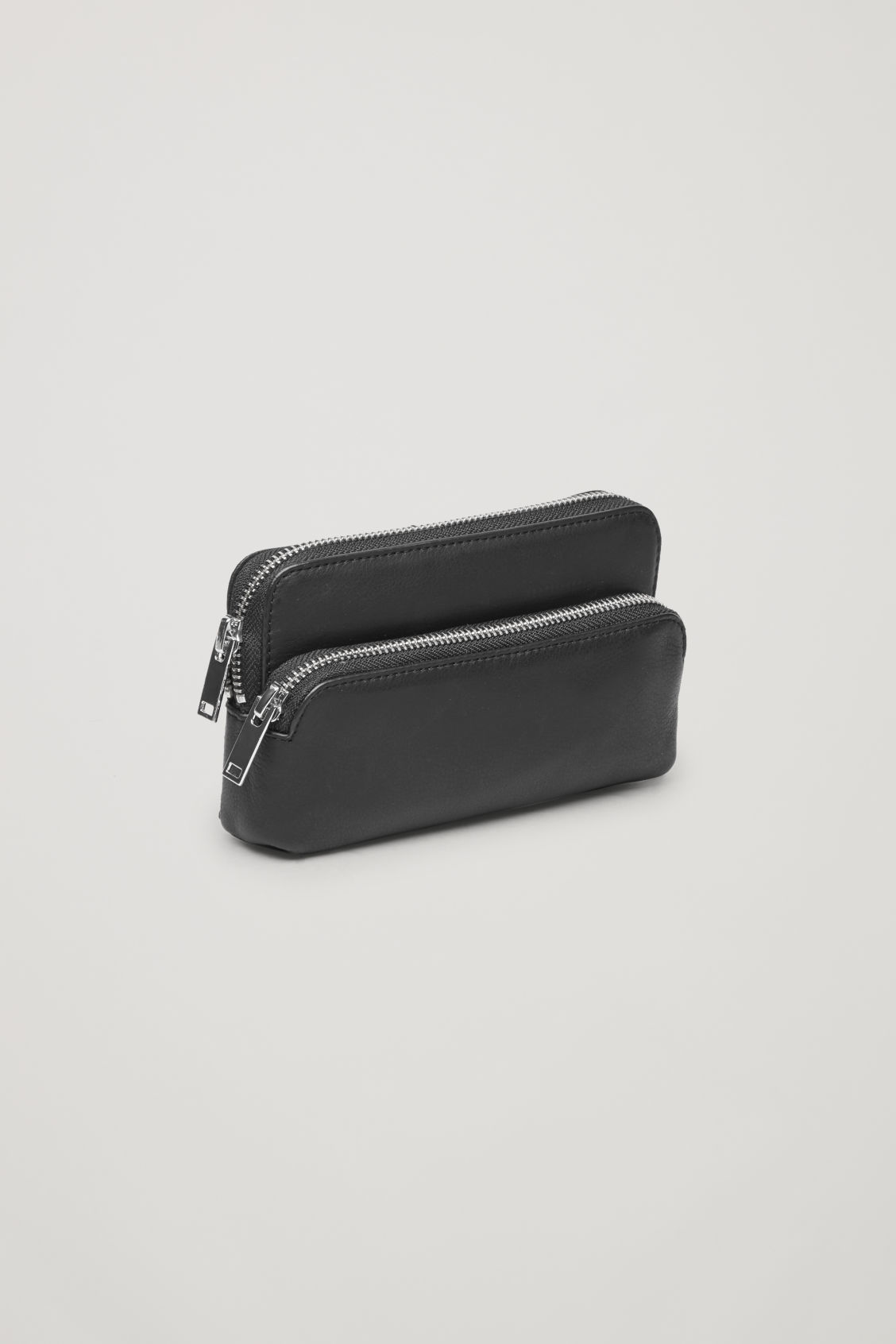 Side image of Cos leather purse belt bag  in black