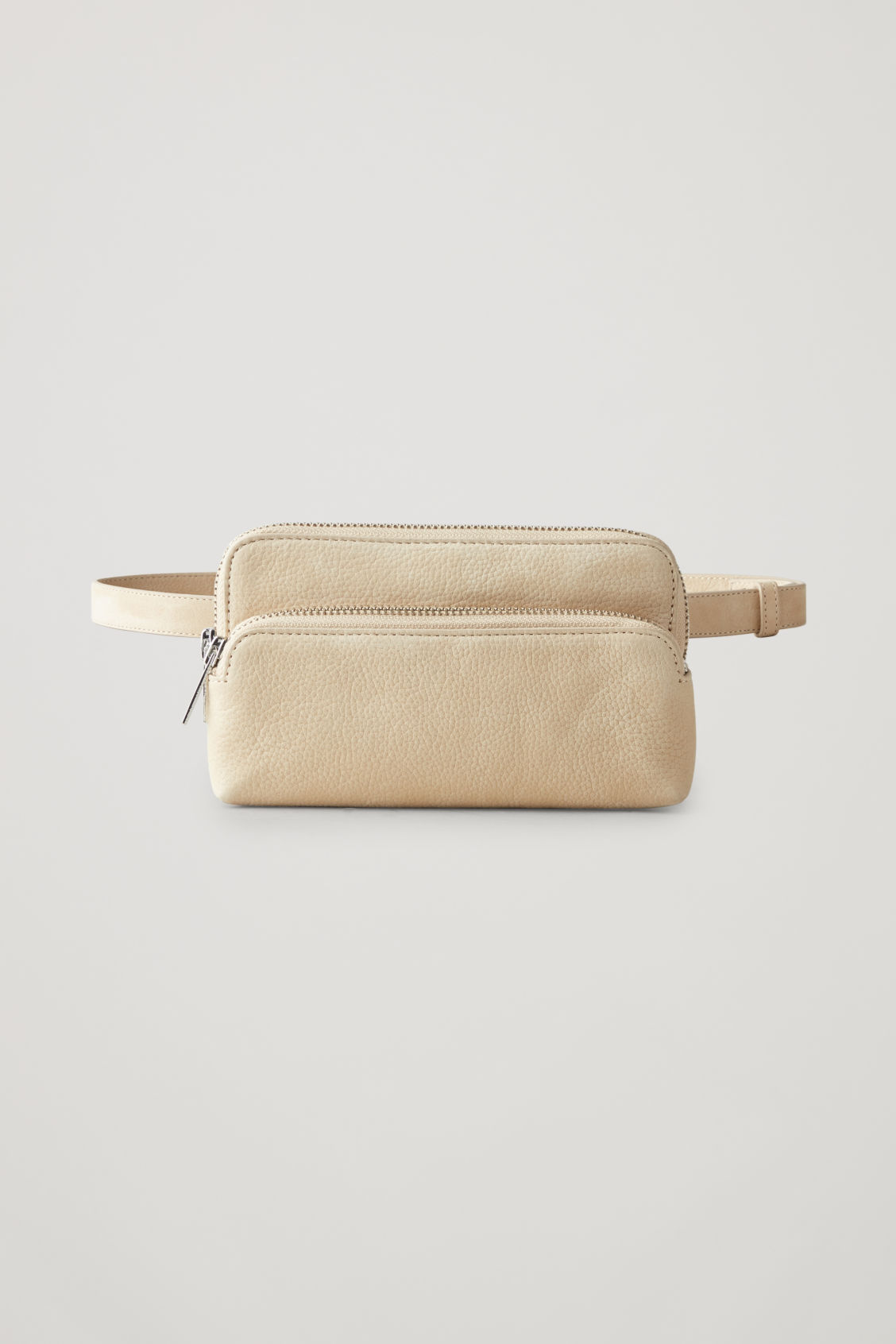 Front image of Cos leather purse belt bag  in beige