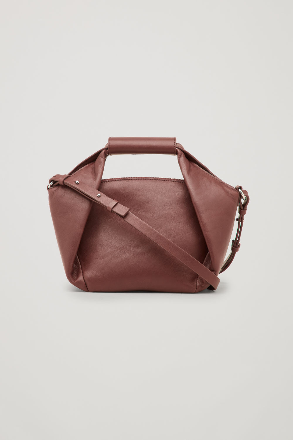 ORIGAMI-LEATHER SHOULDER BAG