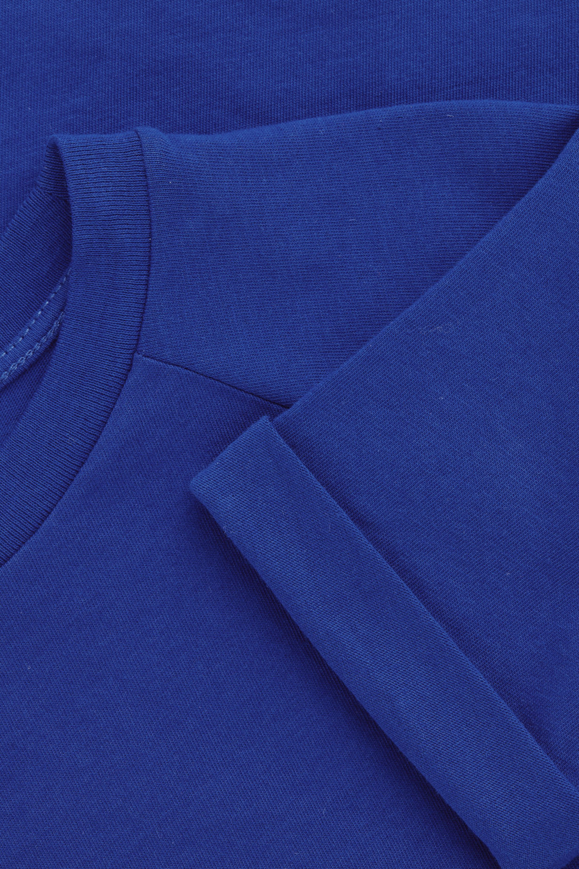 Side image of Cos raglan-sleeved cotton t-shirt in blue