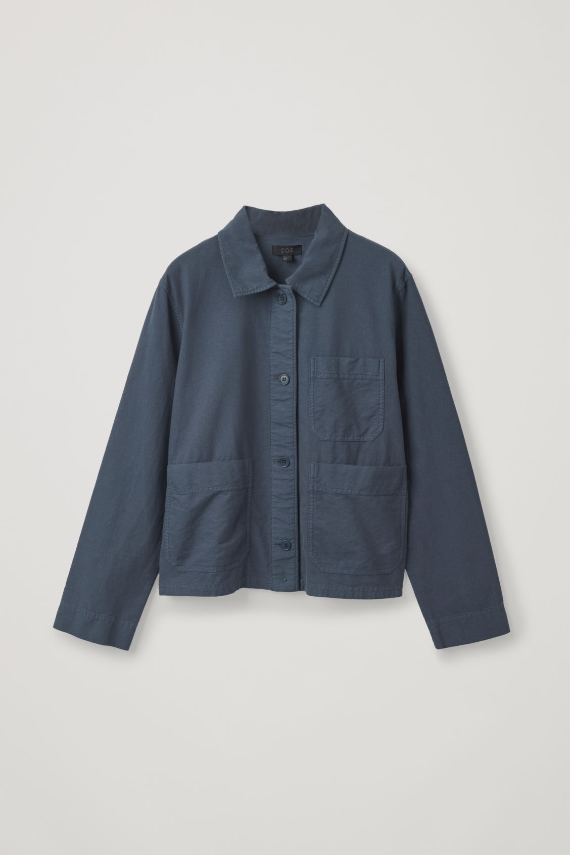 Front image of Cos workwear shirt jacket  in blue
