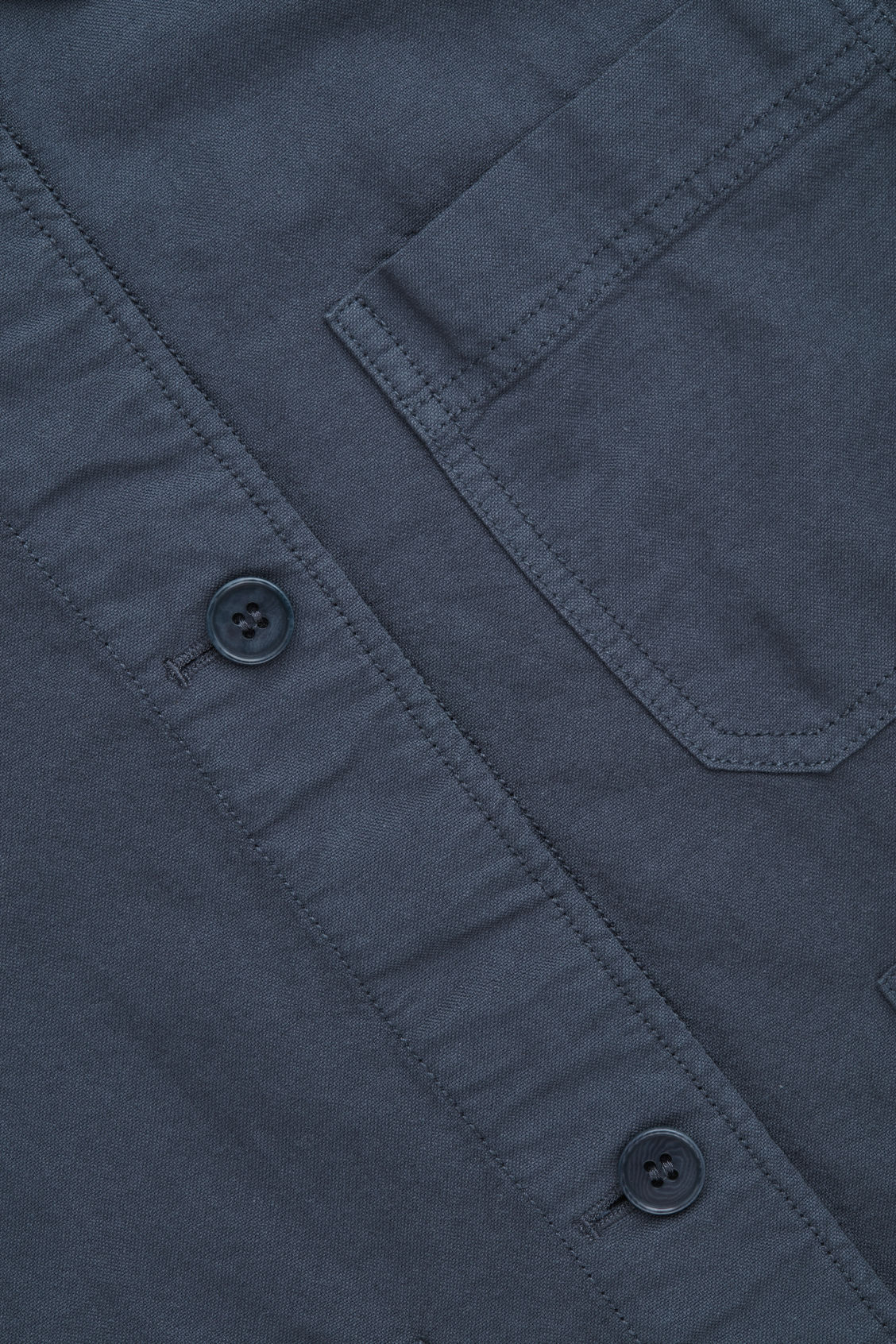 Side image of Cos workwear shirt jacket  in blue