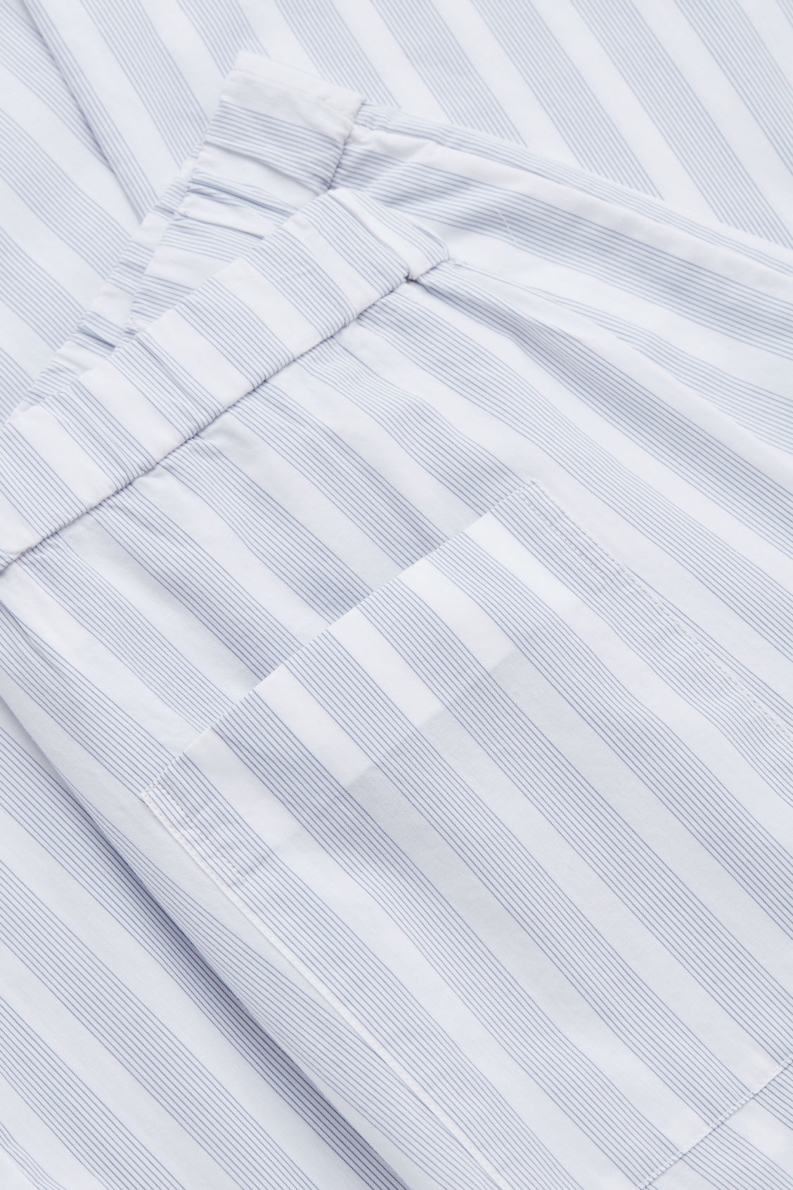 Side image of Cos striped pyjama trousers in white