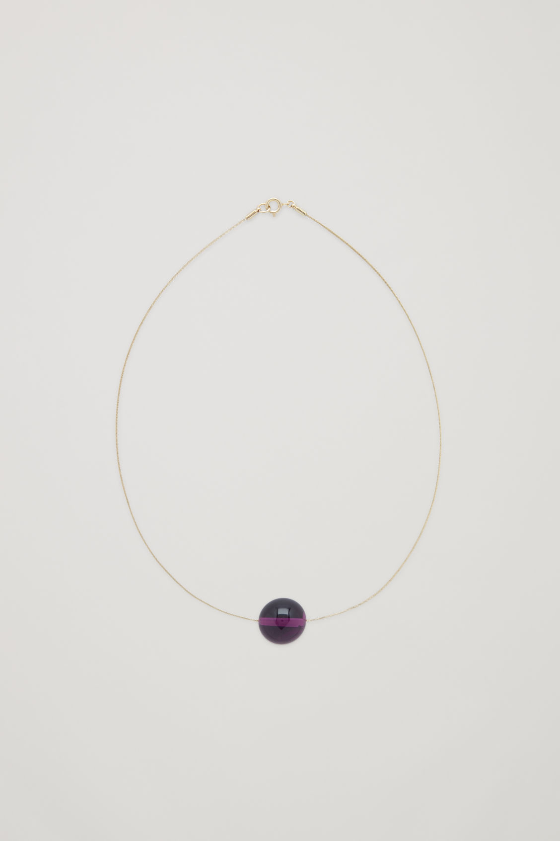 Front image of Cos short cord necklace  in red
