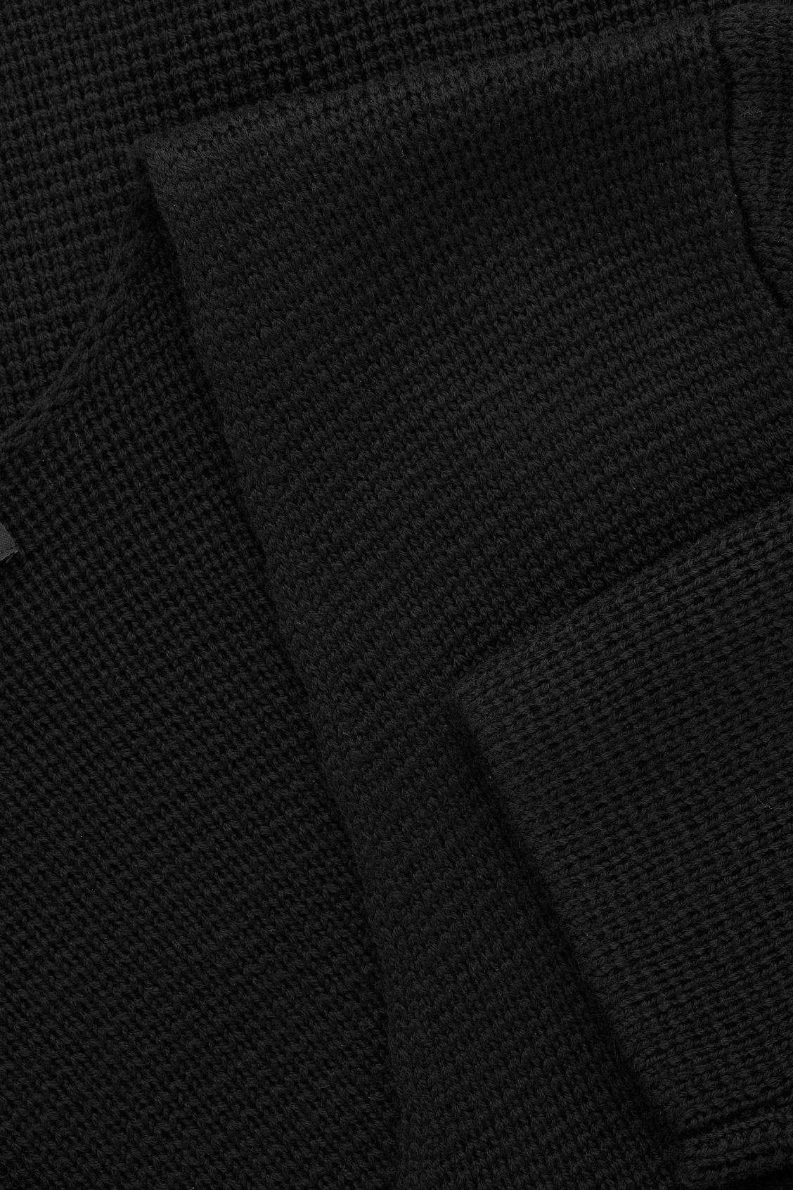 Side image of Cos wool v-neck jumper  in black