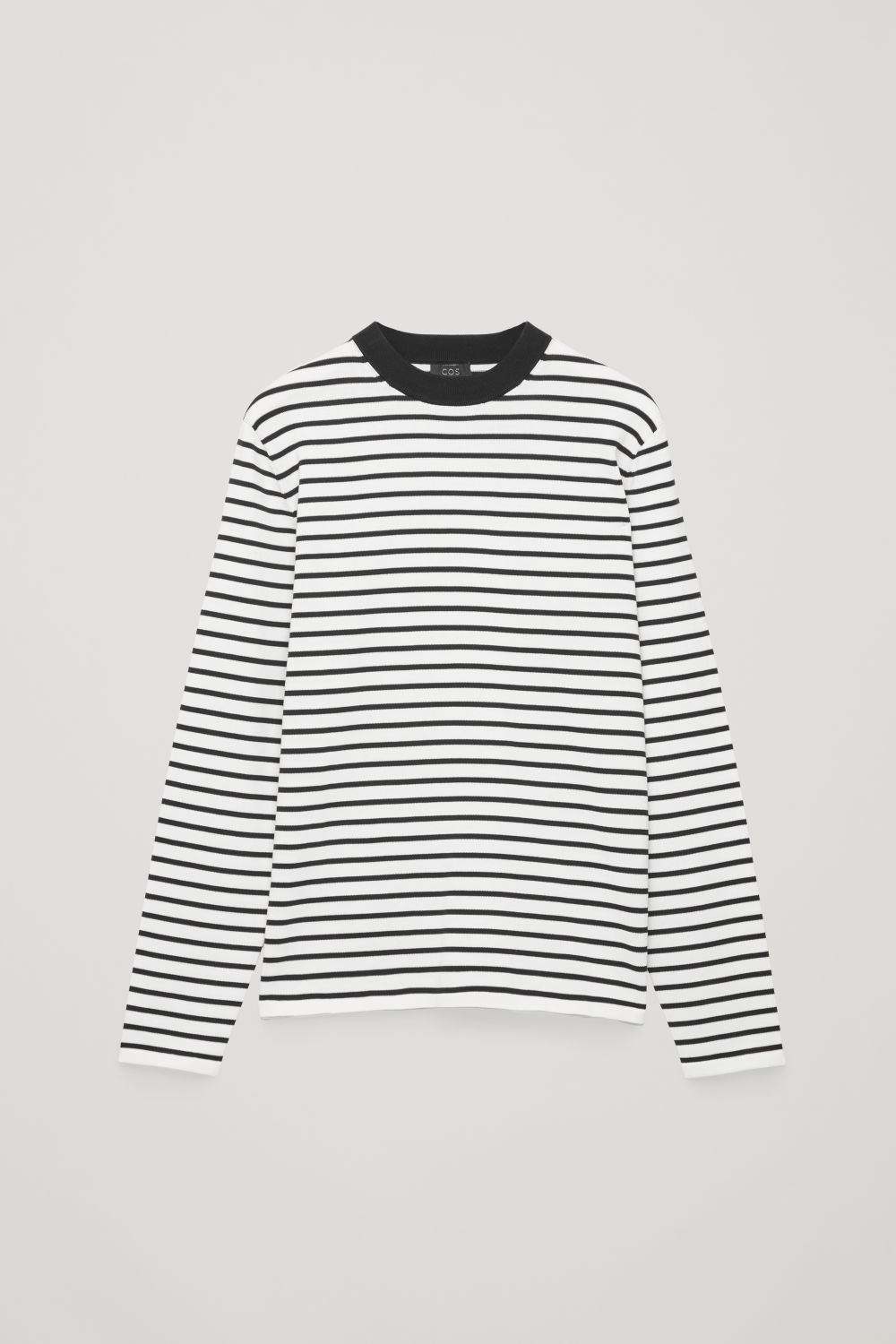 STRIPED COTTON CREW-NECK JUMPER