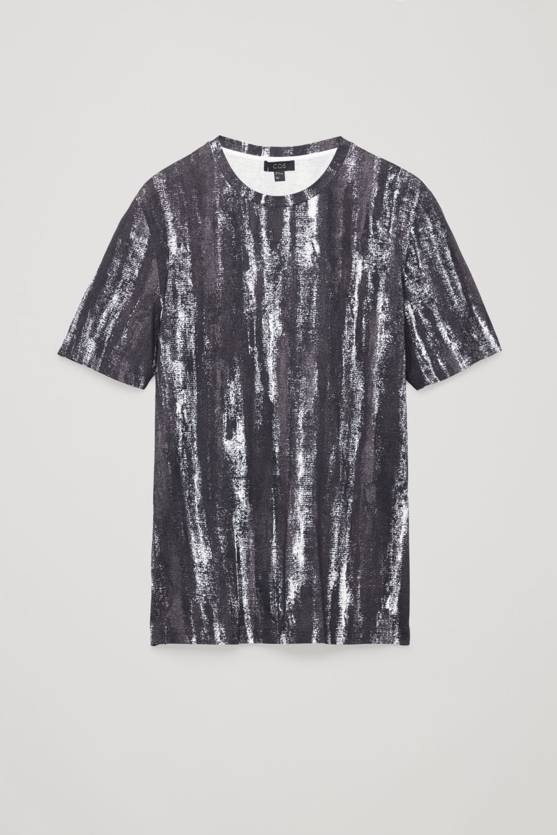 Front image of Cos brush print t-shirt  in black