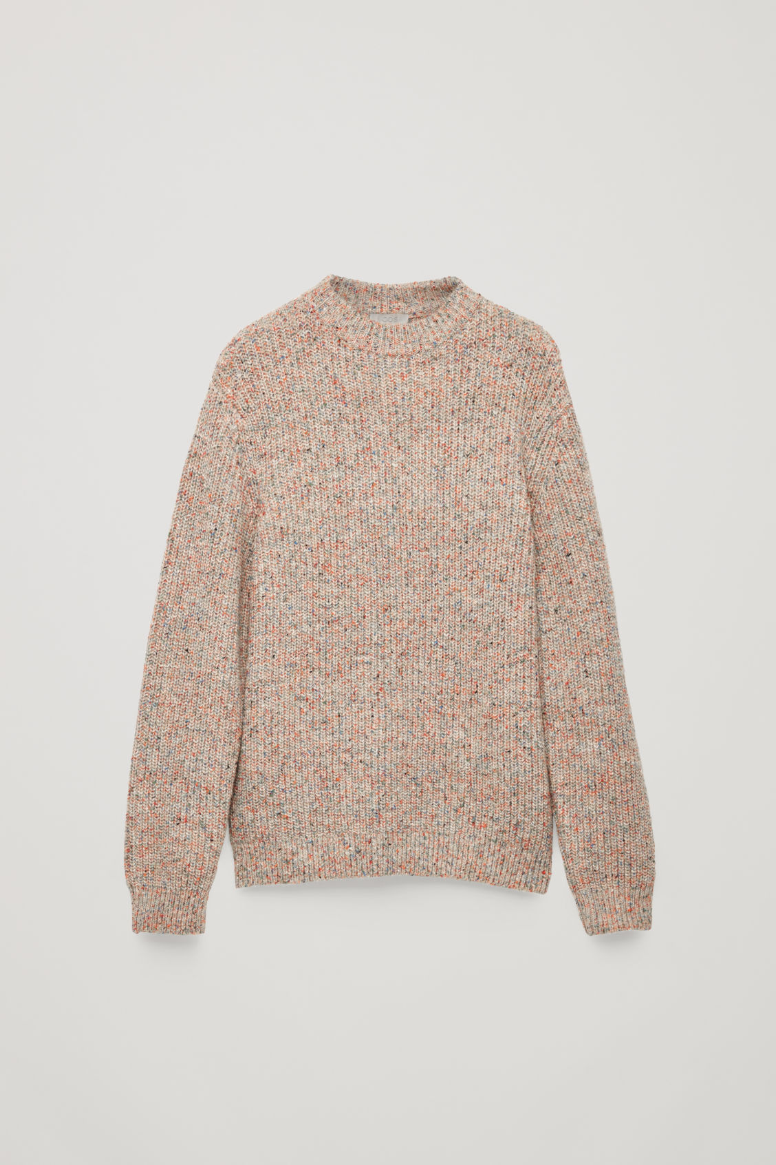 Front image of Cos speckled chunky-knit jumper in brown