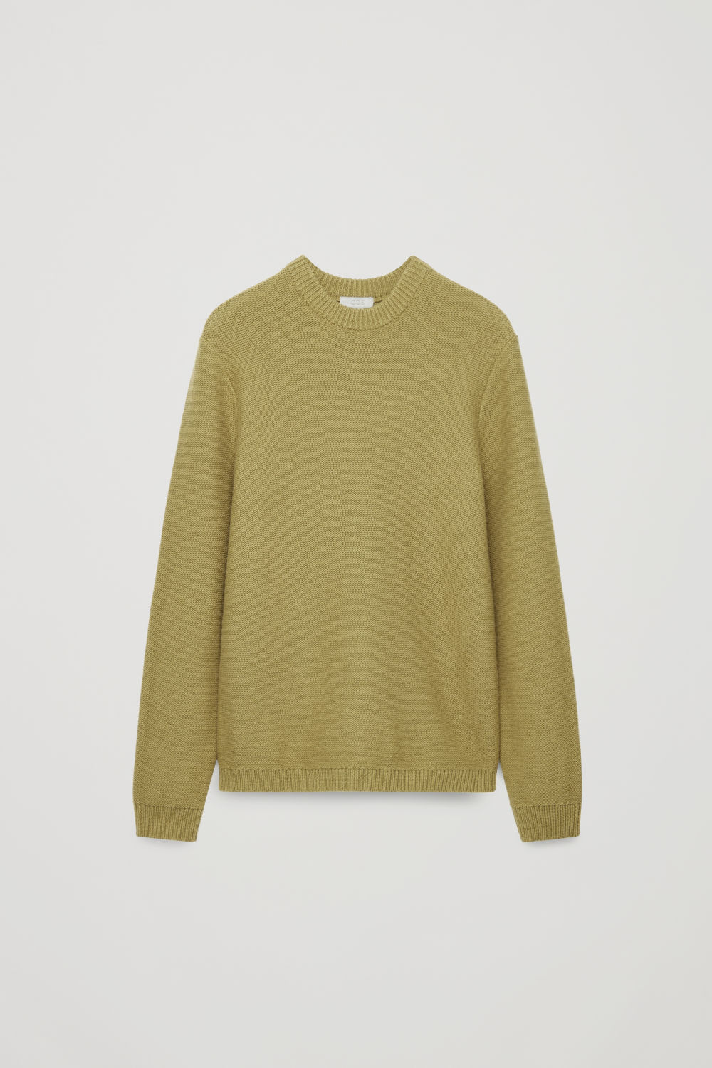 Front image of Cos reverse-knit wool jumper in yellow