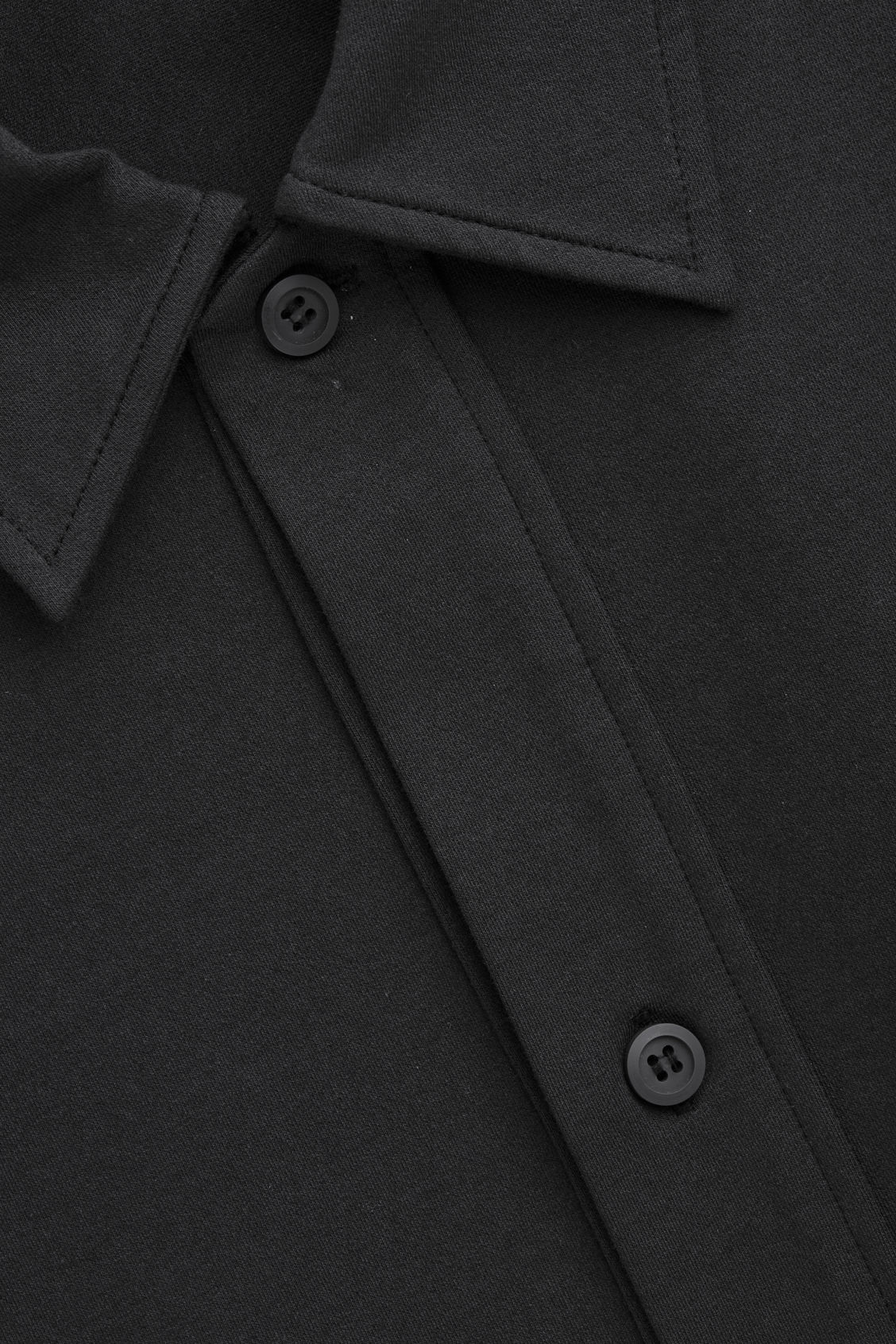 Side image of Cos relaxed thick-cotton shirt in black