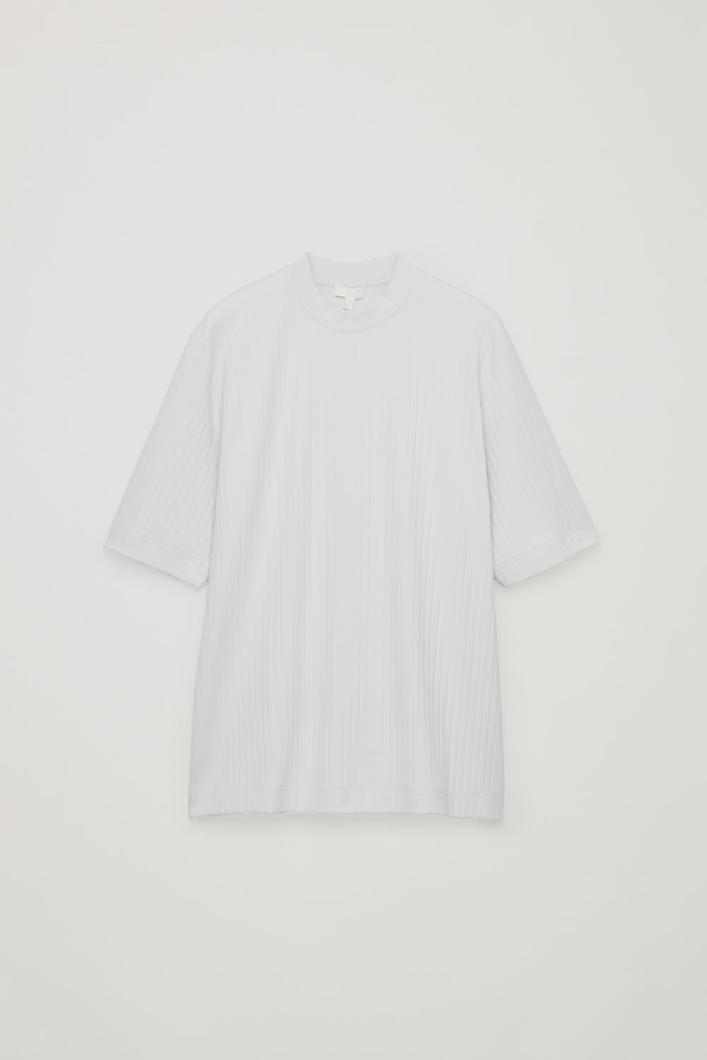 LONG ORGANIC-COTTON RIB T-SHIRT