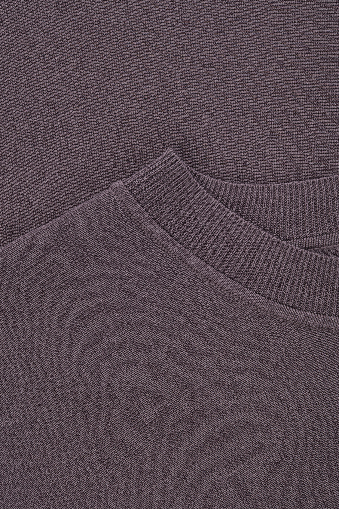 Side image of Cos asymmetric drape-knit top  in purple