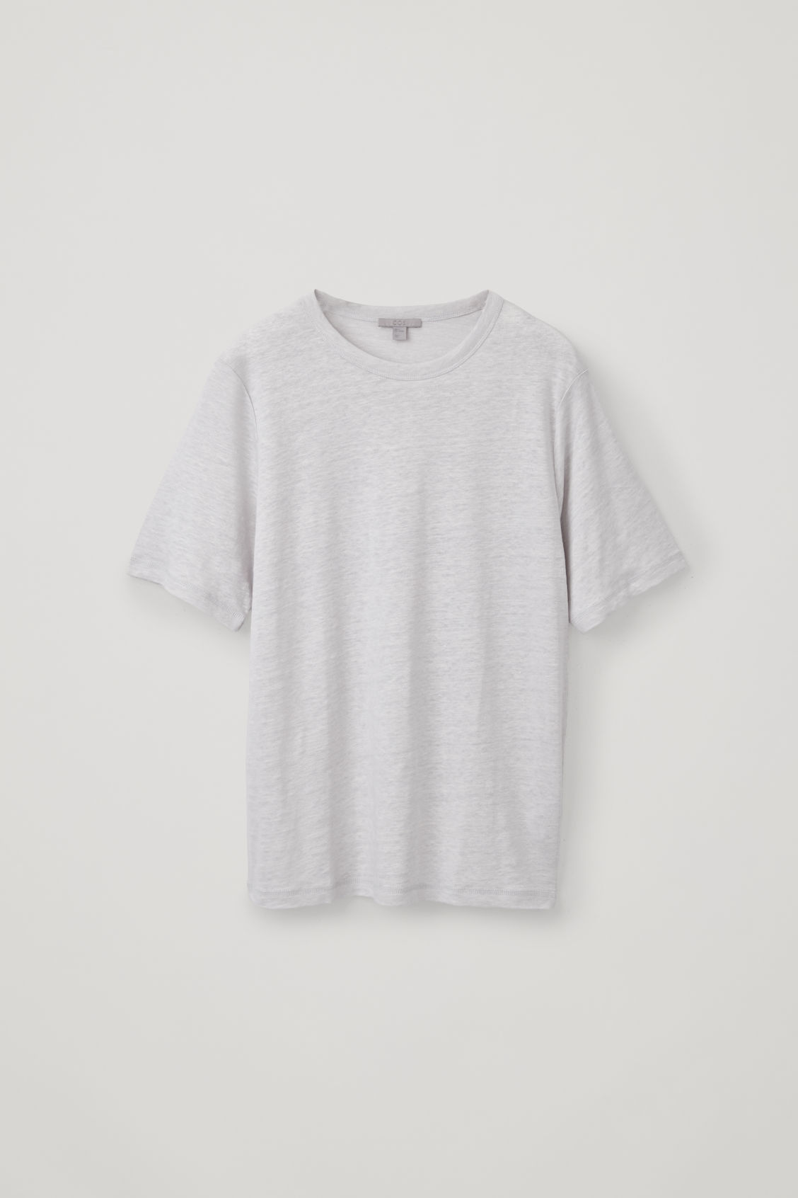 Front image of Cos boxy linen t-shirt in grey