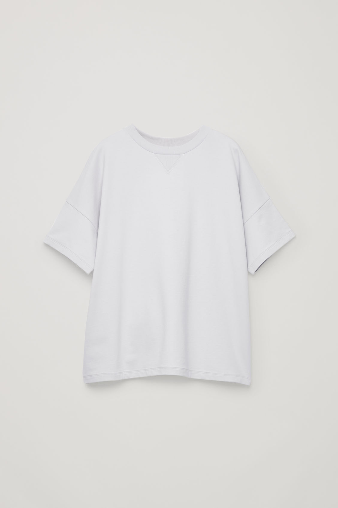 Front image of Cos relaxed jersey t-shirt in grey