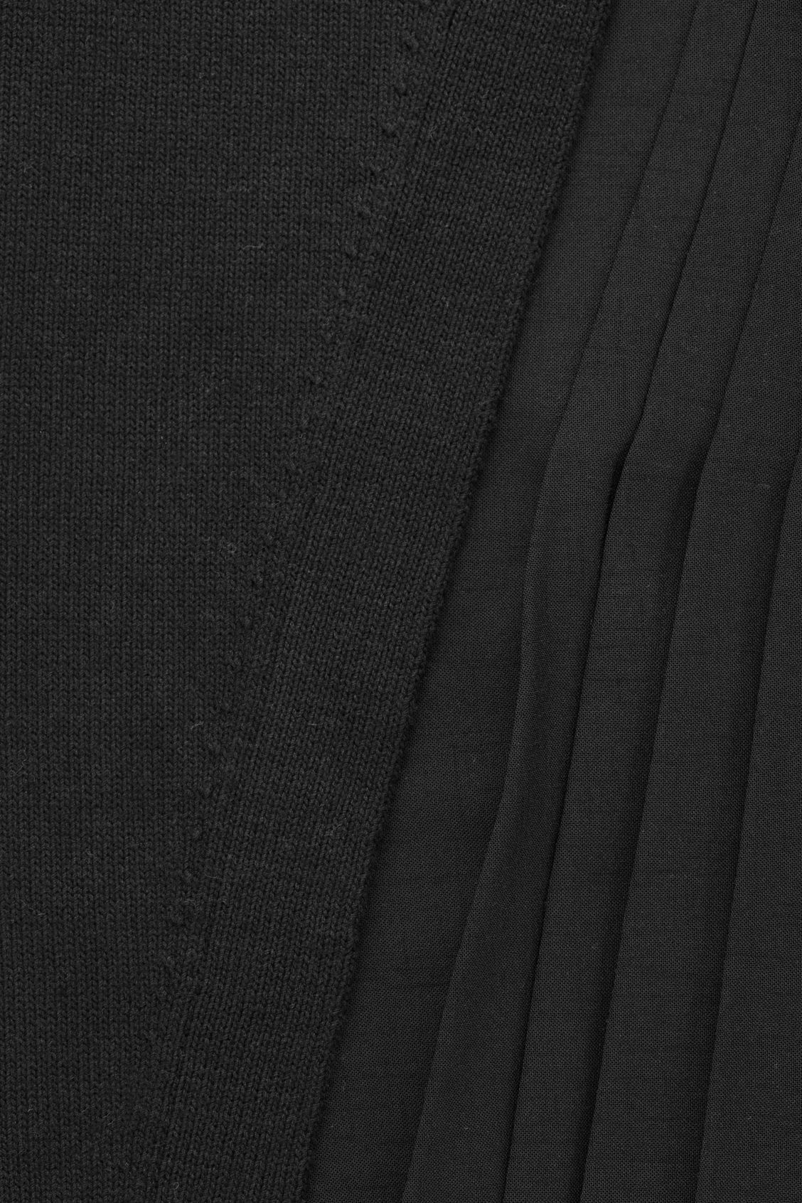 Side image of Cos pleated-panelled knit dress in black