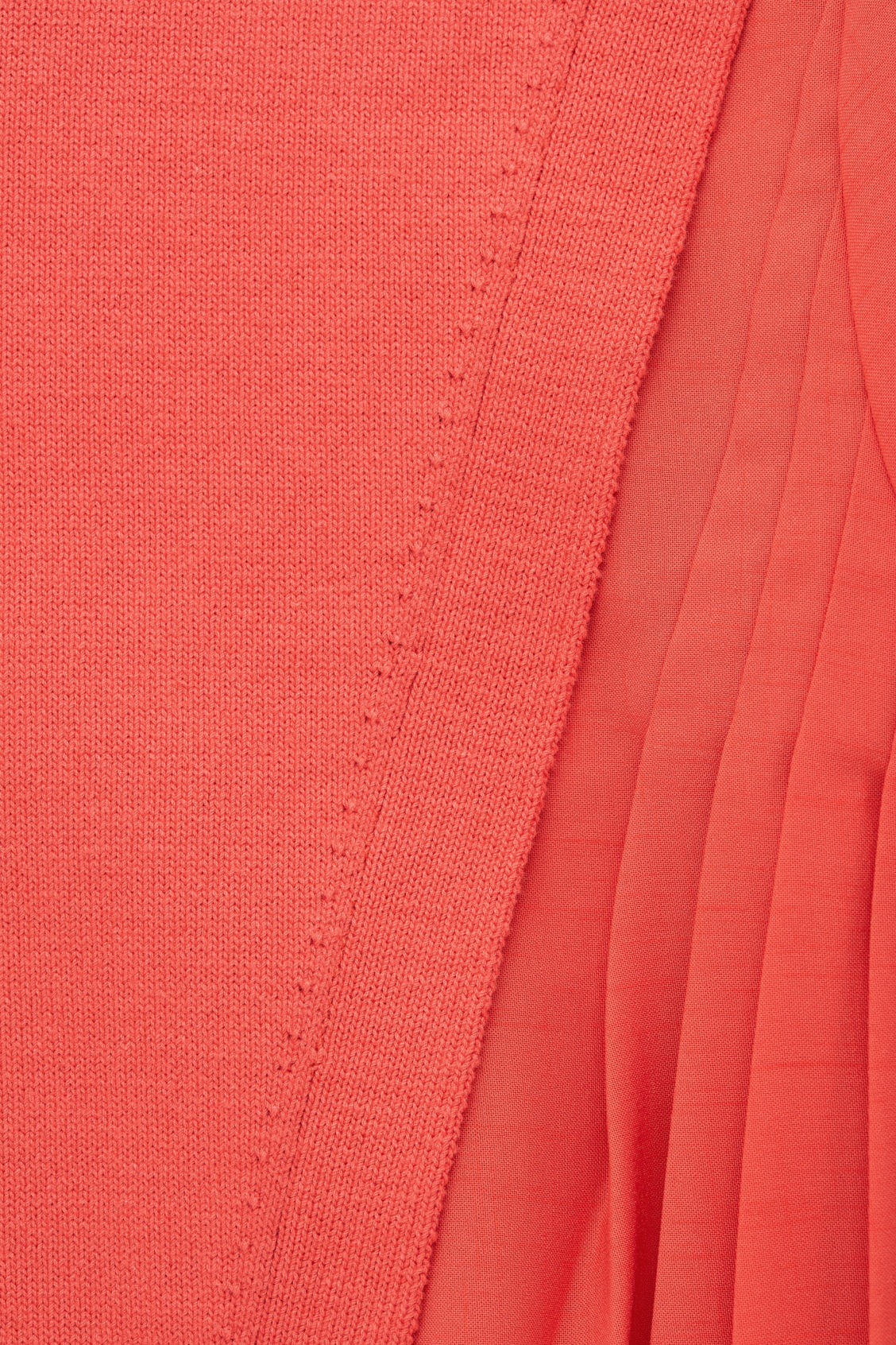 Side image of Cos pleated-panelled knit dress in orange