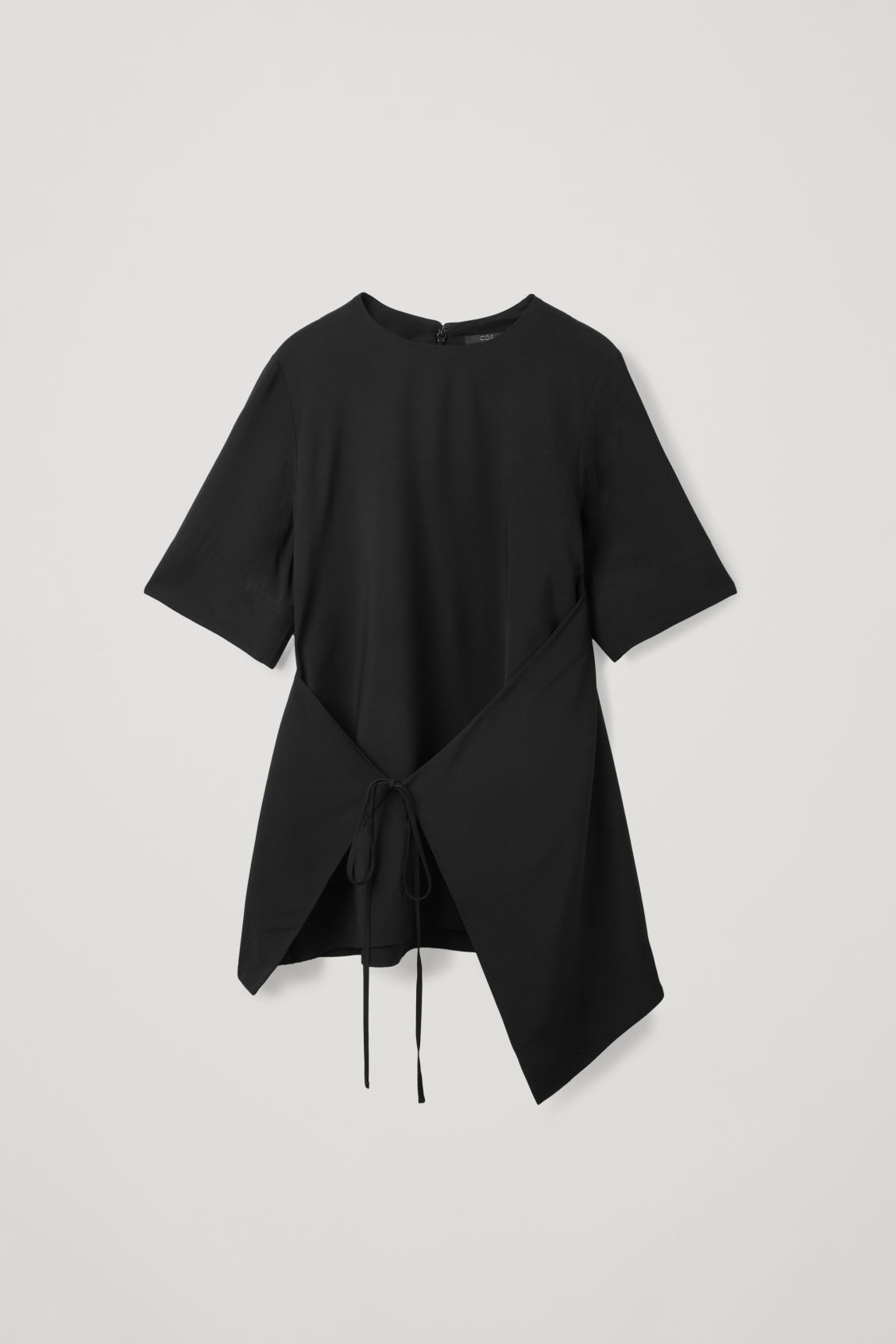 Front image of Cos asymmetric-panel top  in black