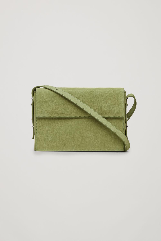DOUBLE-FLAP BOX LEATHER BAG ... 0ef01850b77
