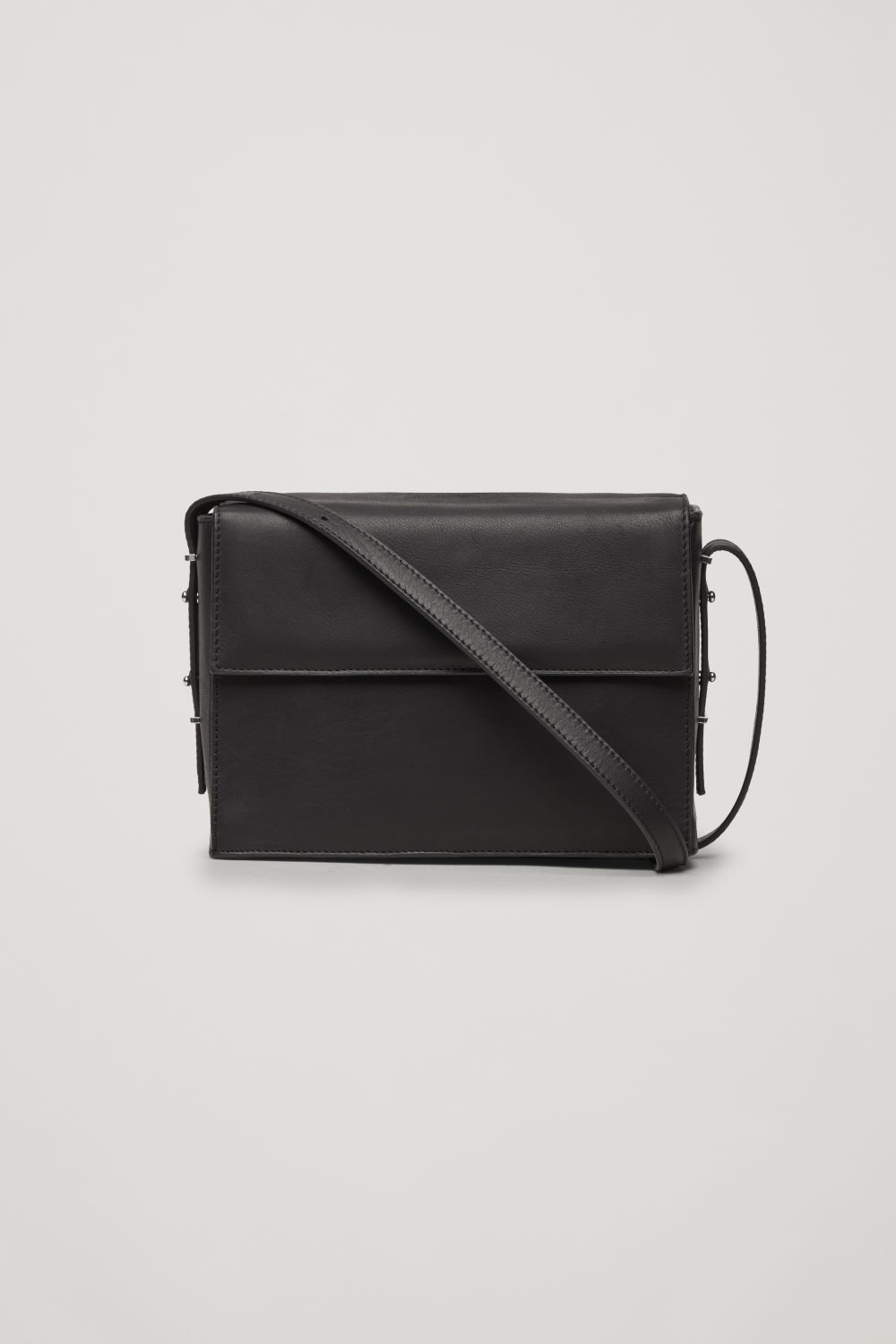 DOUBLE-FLAP BOX LEATHER BAG